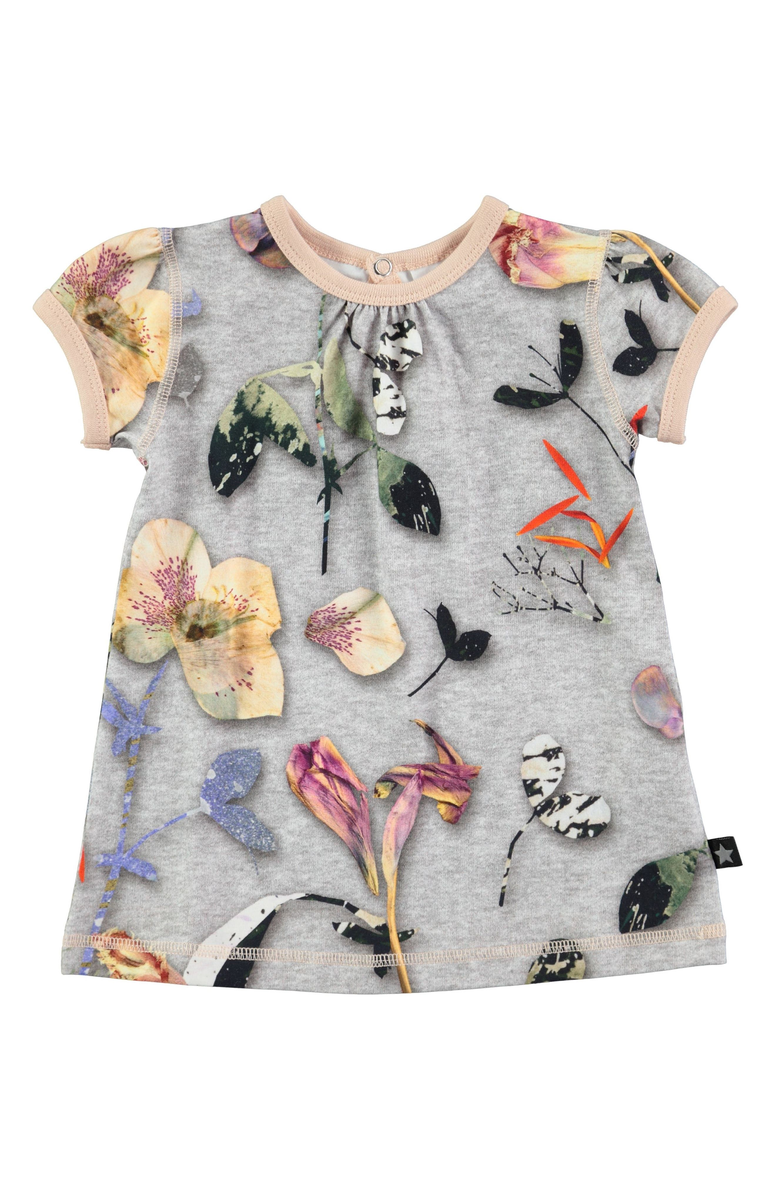Molo Cathleen Flower Print Knit Dress (Baby Girls)