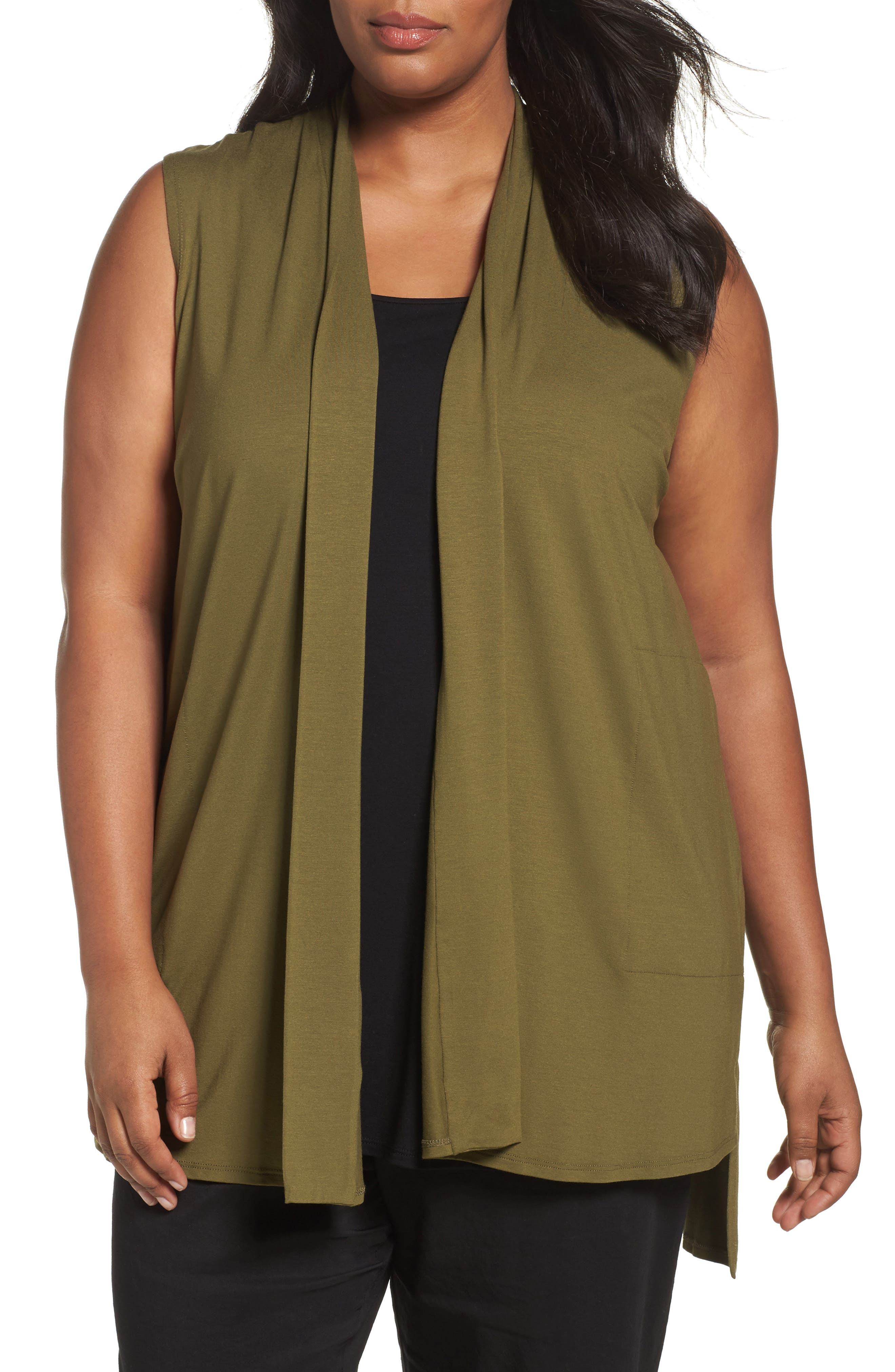 Eileen Fisher Lightweight Jersey Vest (Plus Size)