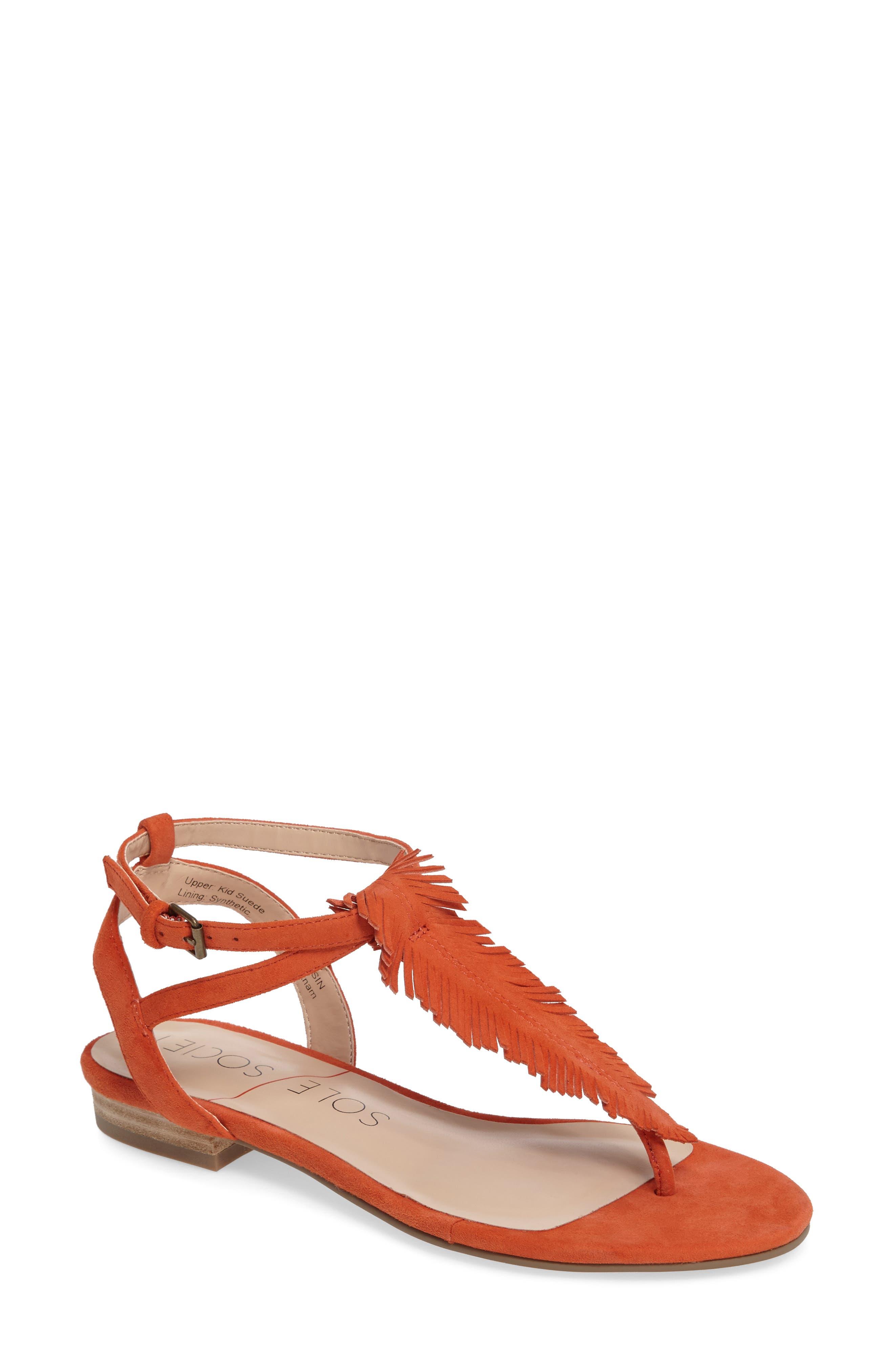 Sole Society Mara Fringe Thong Sandal (Women)