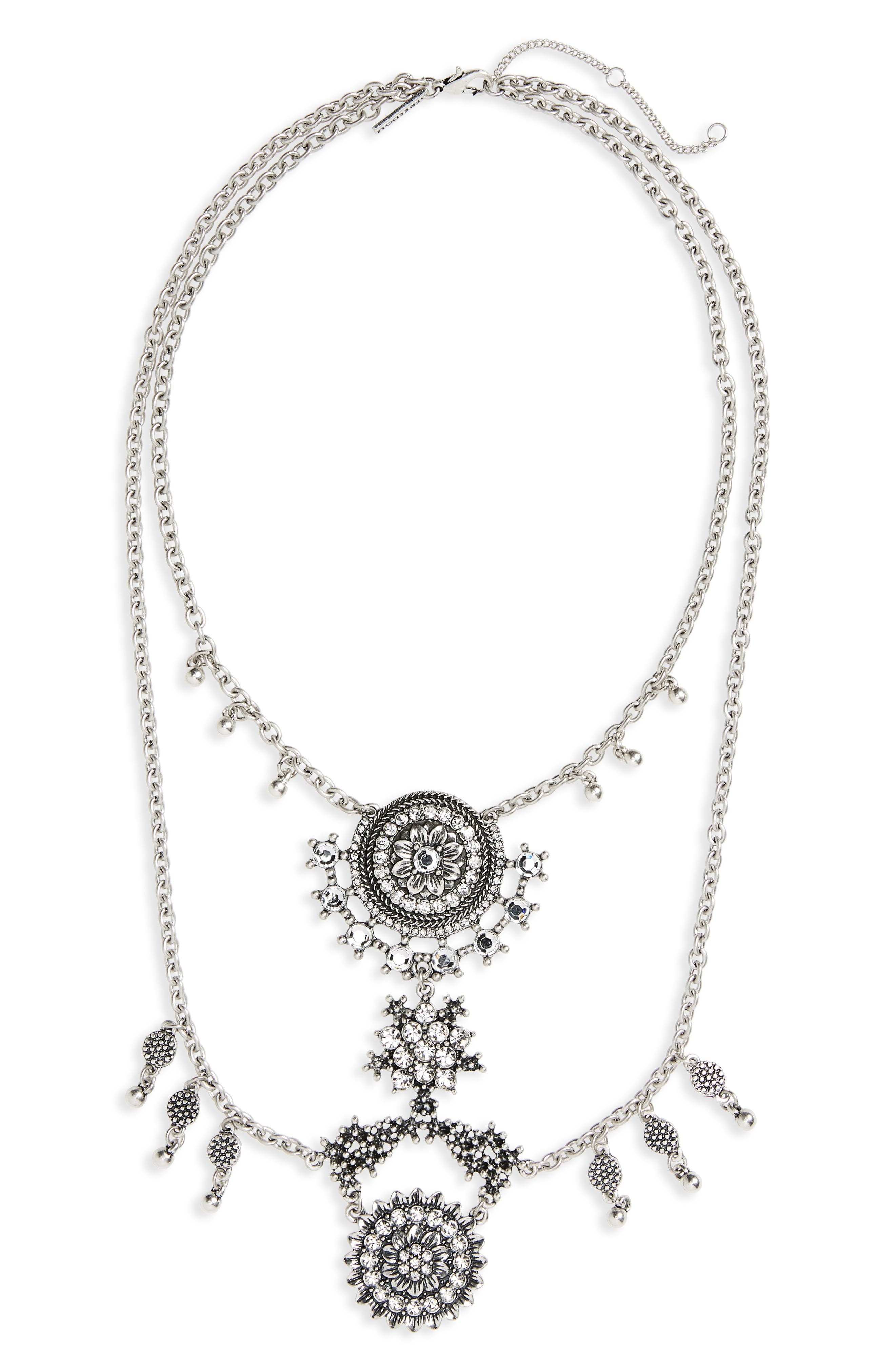 Topshop Crystal Statement Collar Necklace