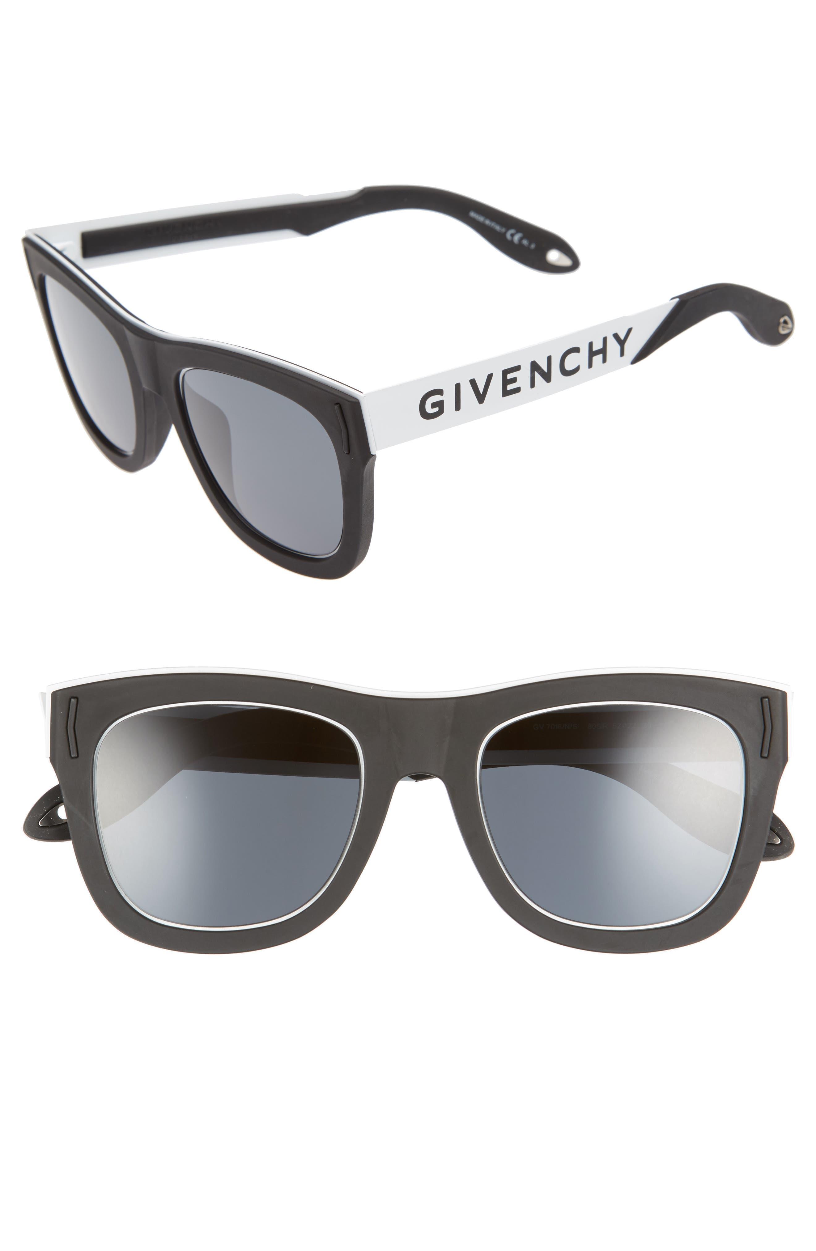 Main Image - Givenchy 52mm Mirrored Rectangular Sunglasses