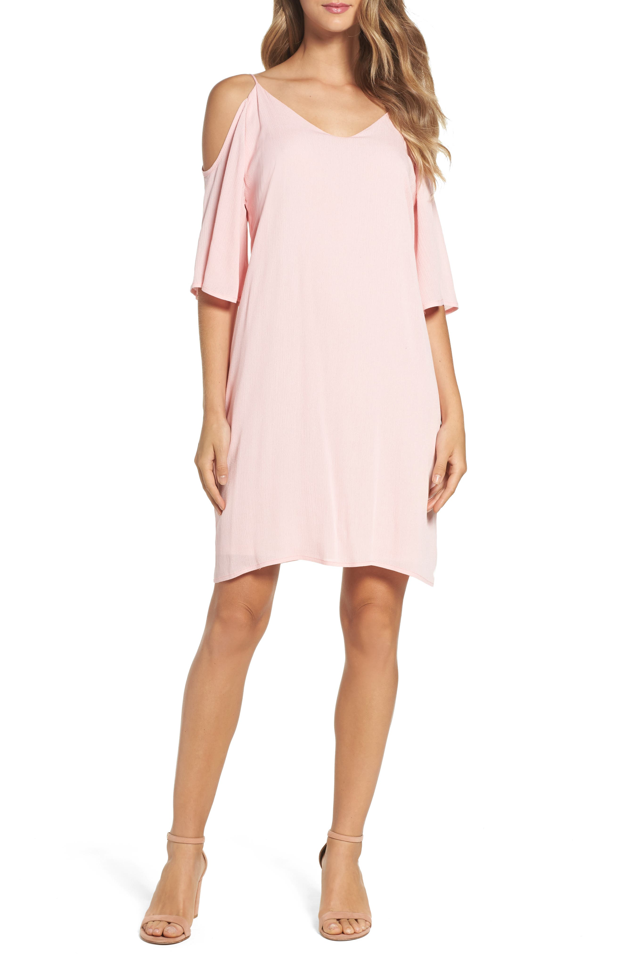 Fraiche by J Cold Shoulder Shift Dress