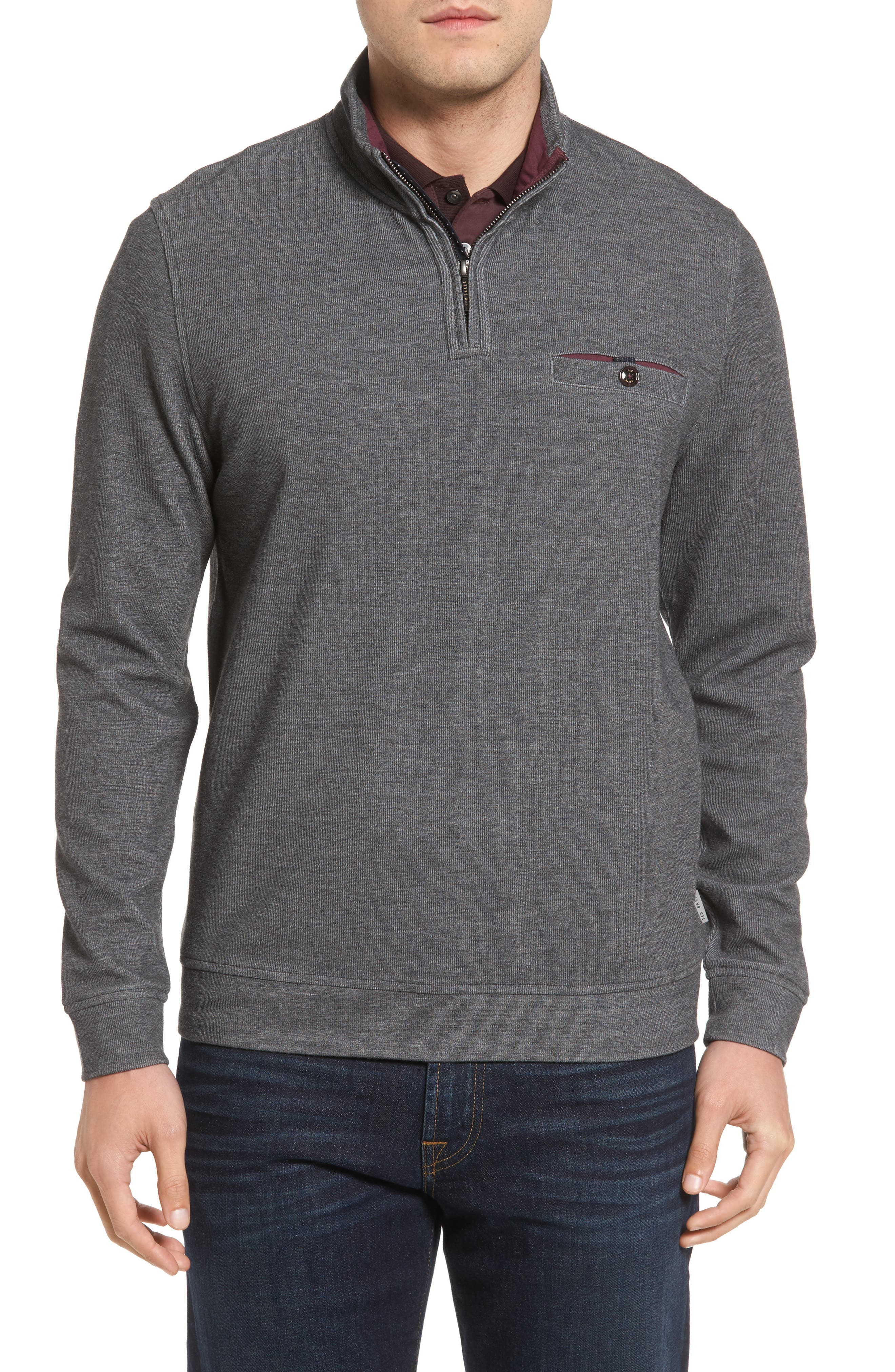 Ted Baker London Valerio Quarter Zip Pullover