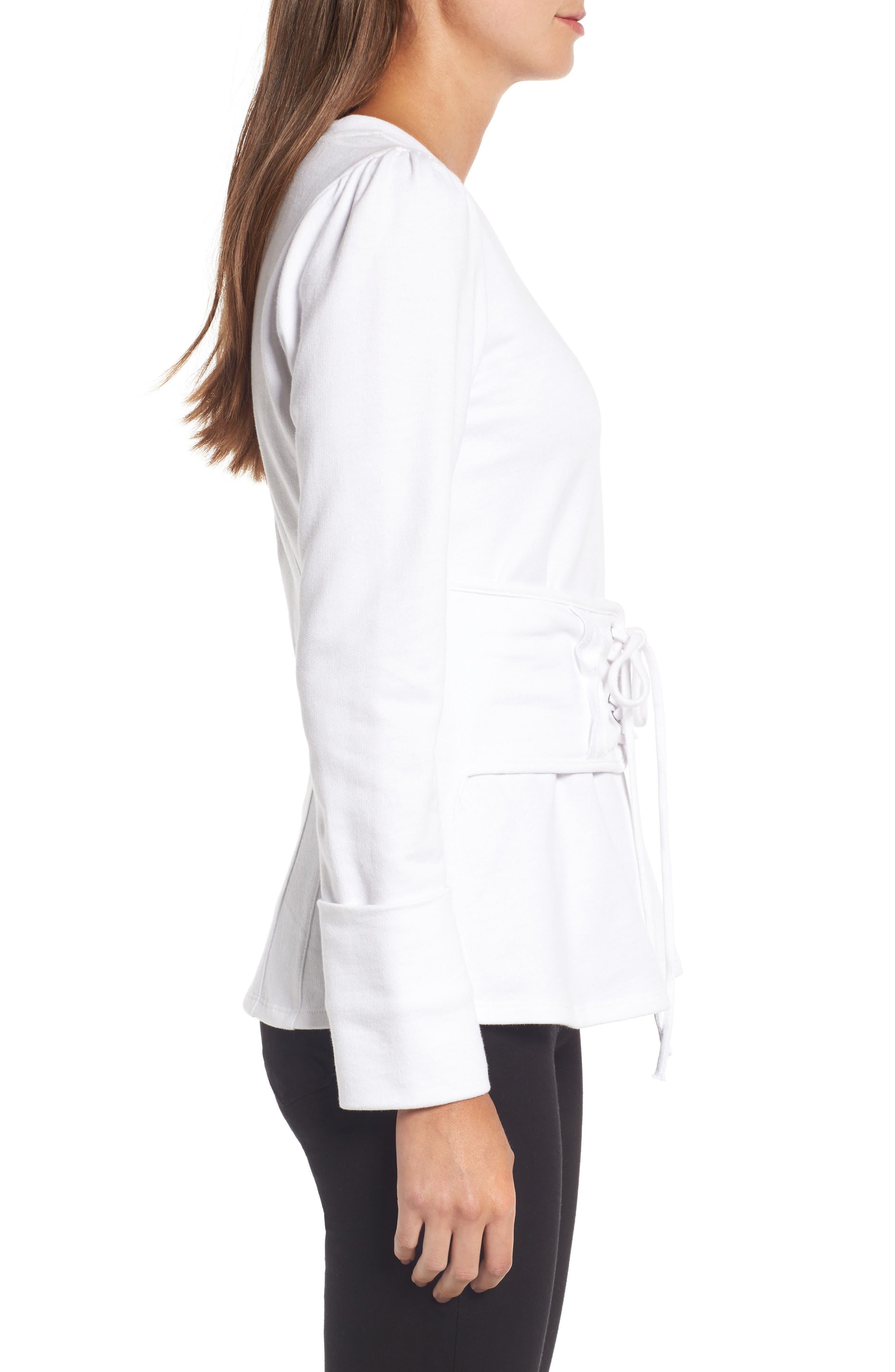 Alternate Image 4  - Trouvé Lace-Up Corset Sweatshirt