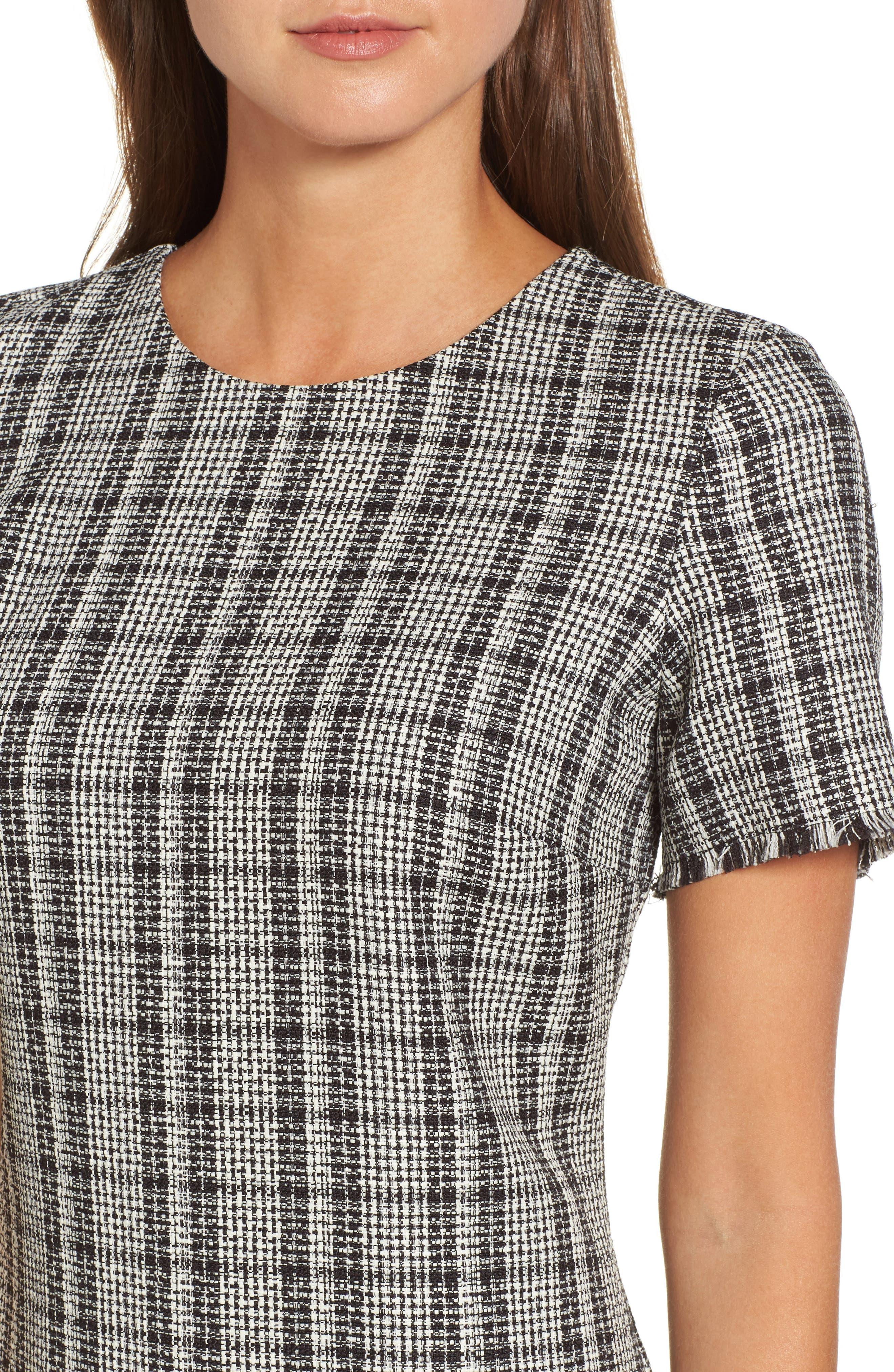 Alternate Image 4  - Chelsea28 Tweed Ruffle Shift Dress