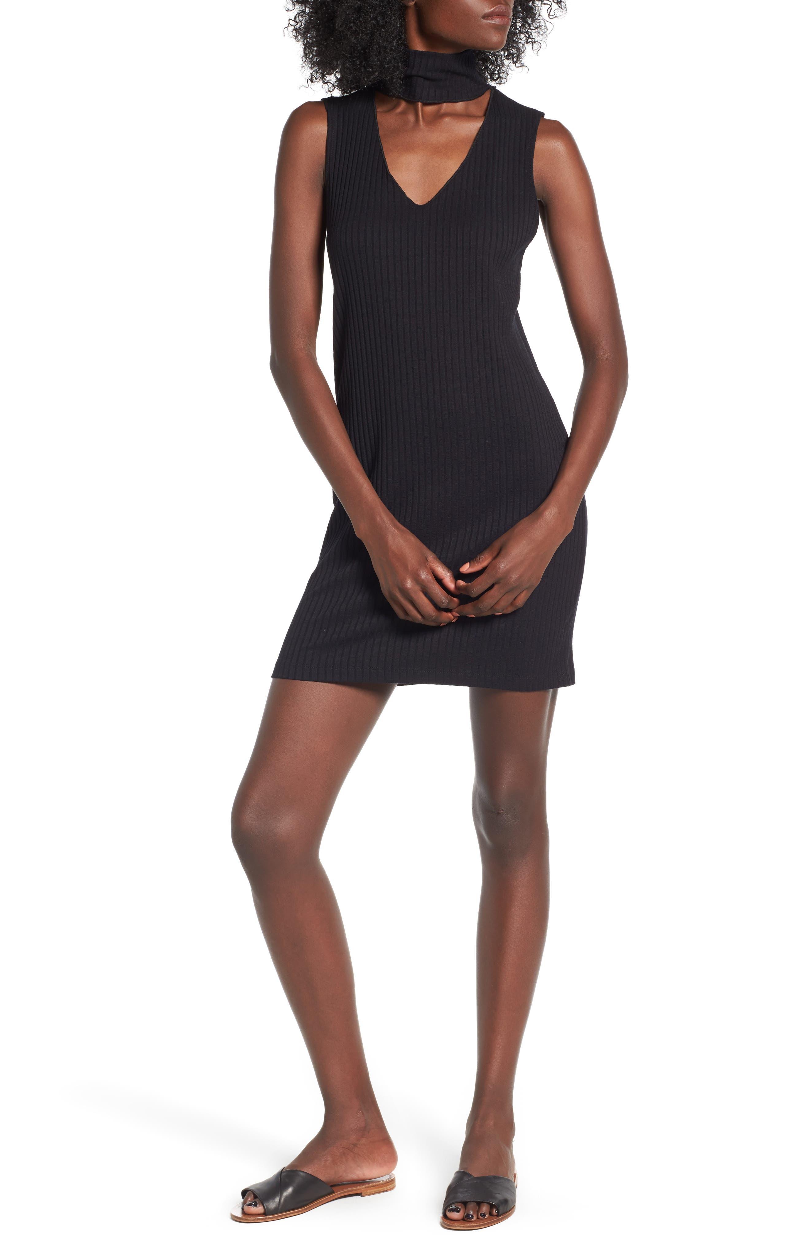 LNA Ribbed Choker Dress