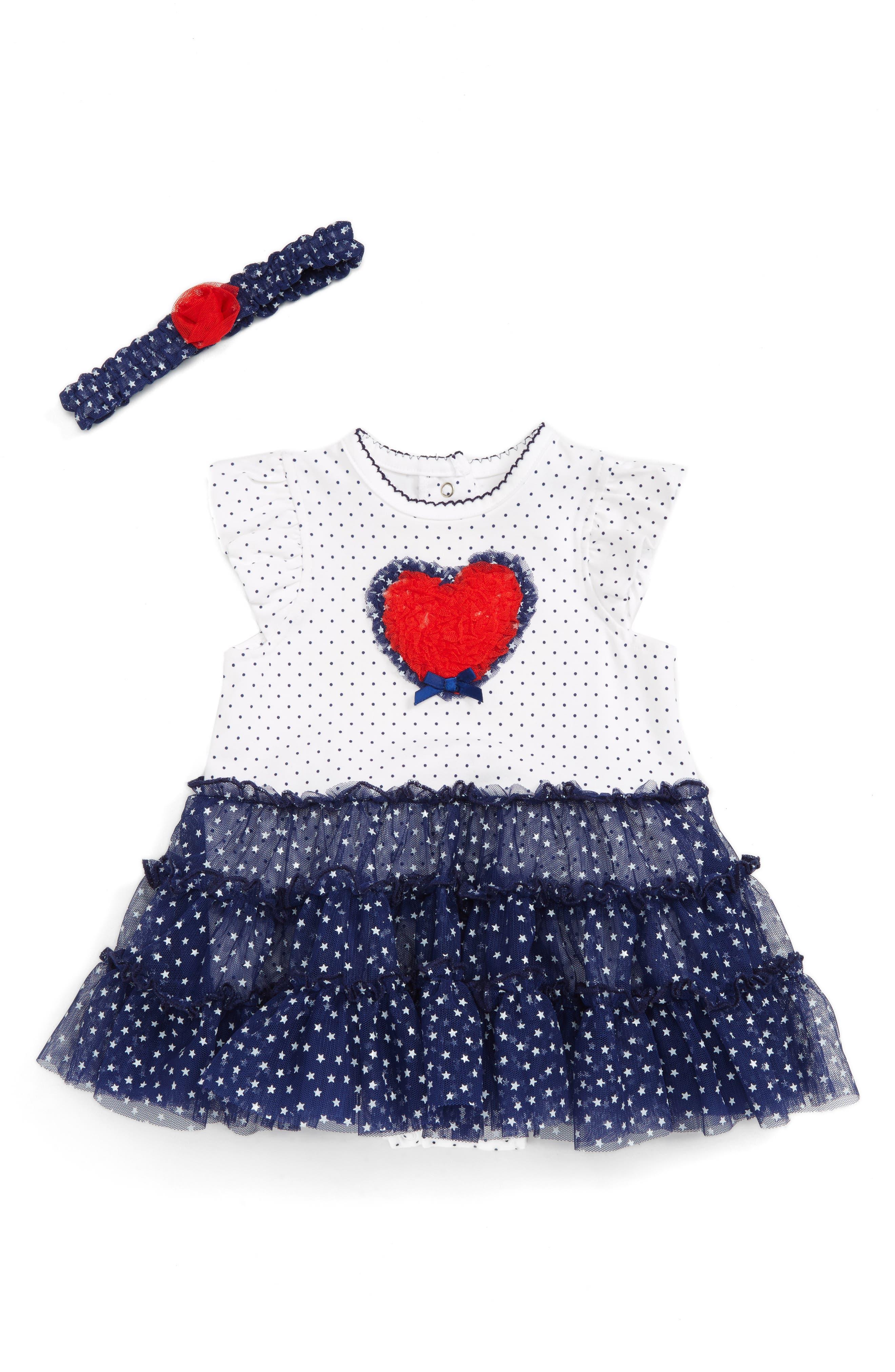Little Me Heart Tutu Dress & Headband Set (Baby Girls)