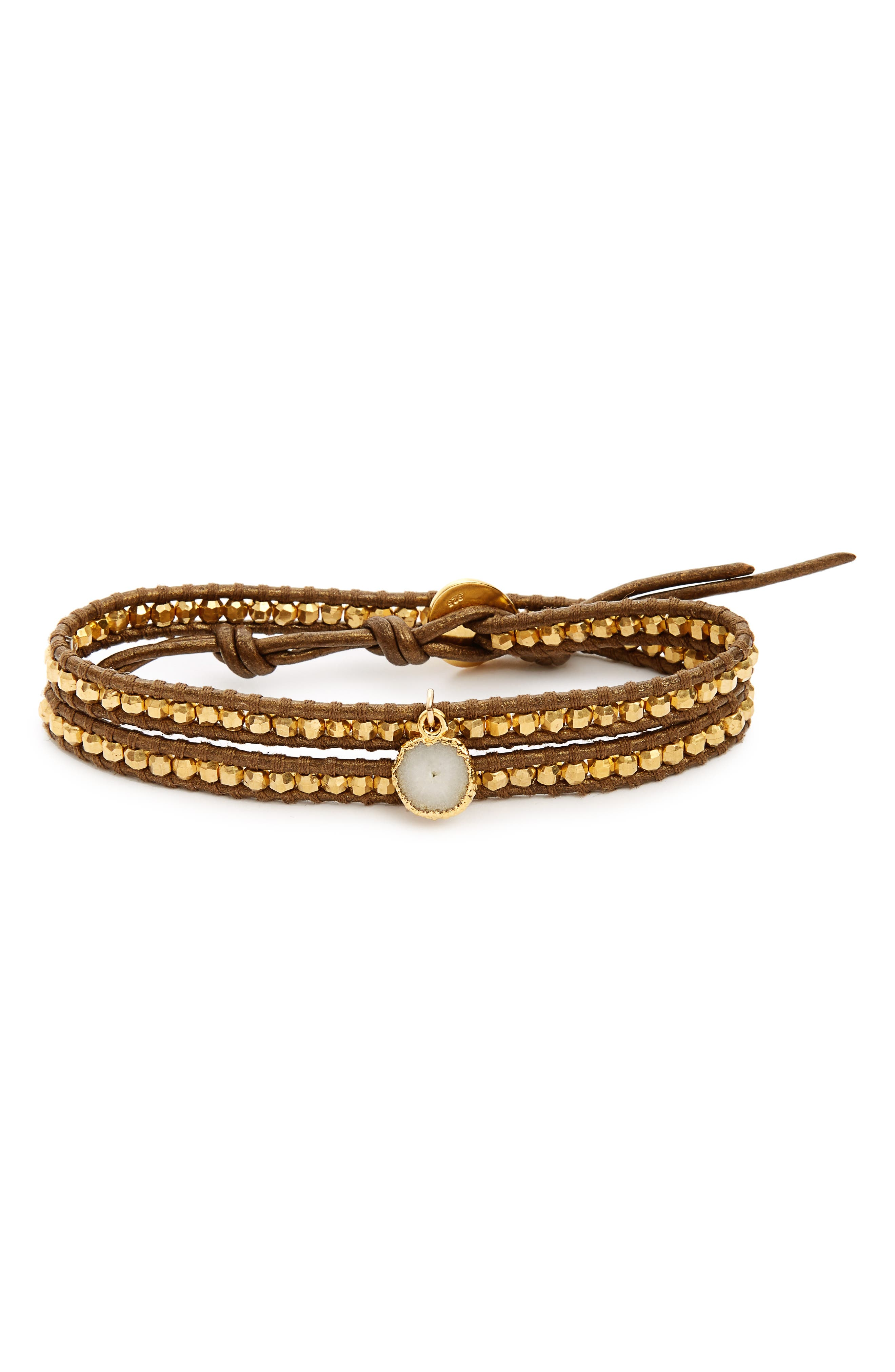 Chan Luu Double Wrap Leather Bracelet
