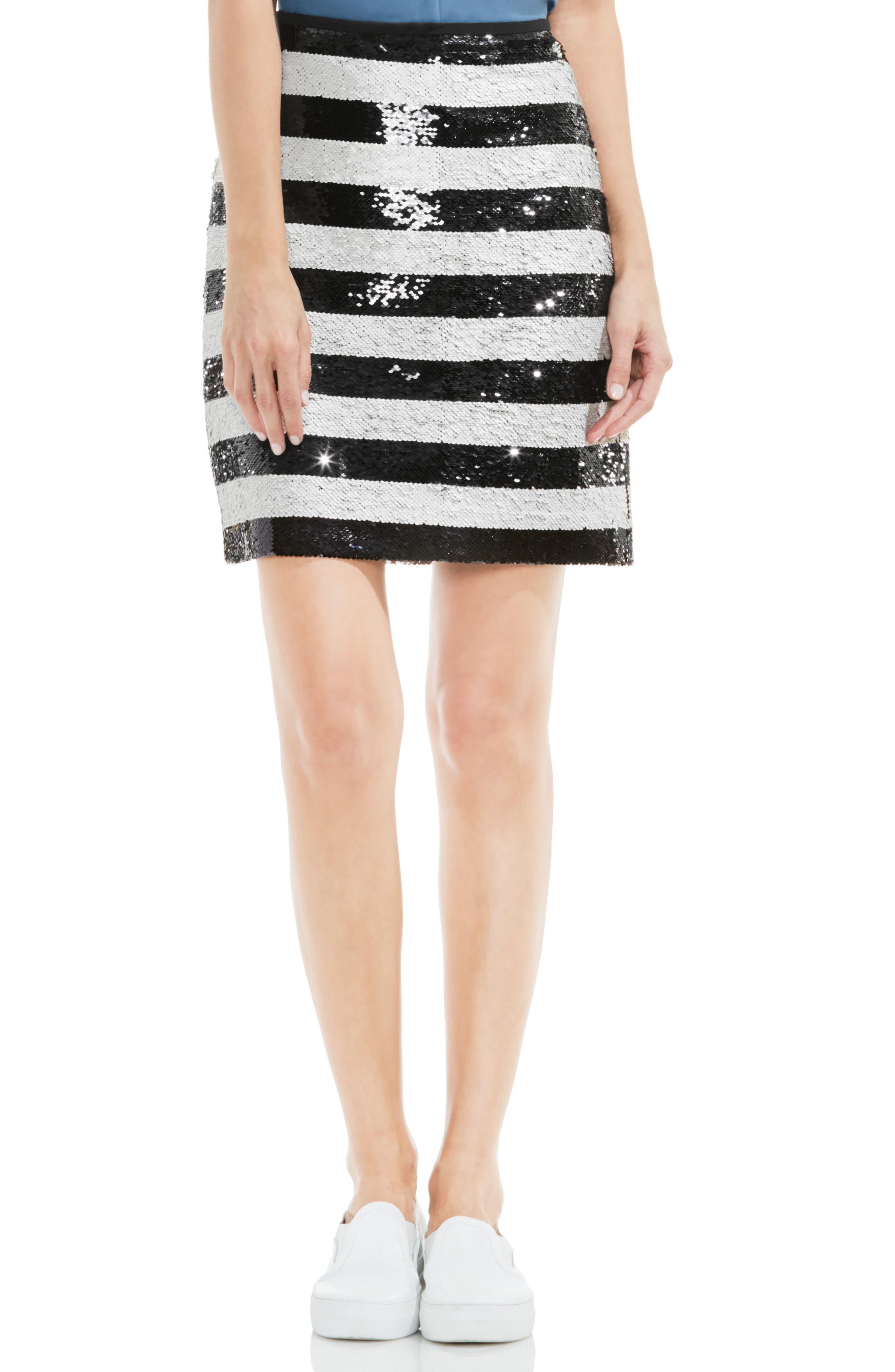 Vince Camuto Sequin Stripe Skirt