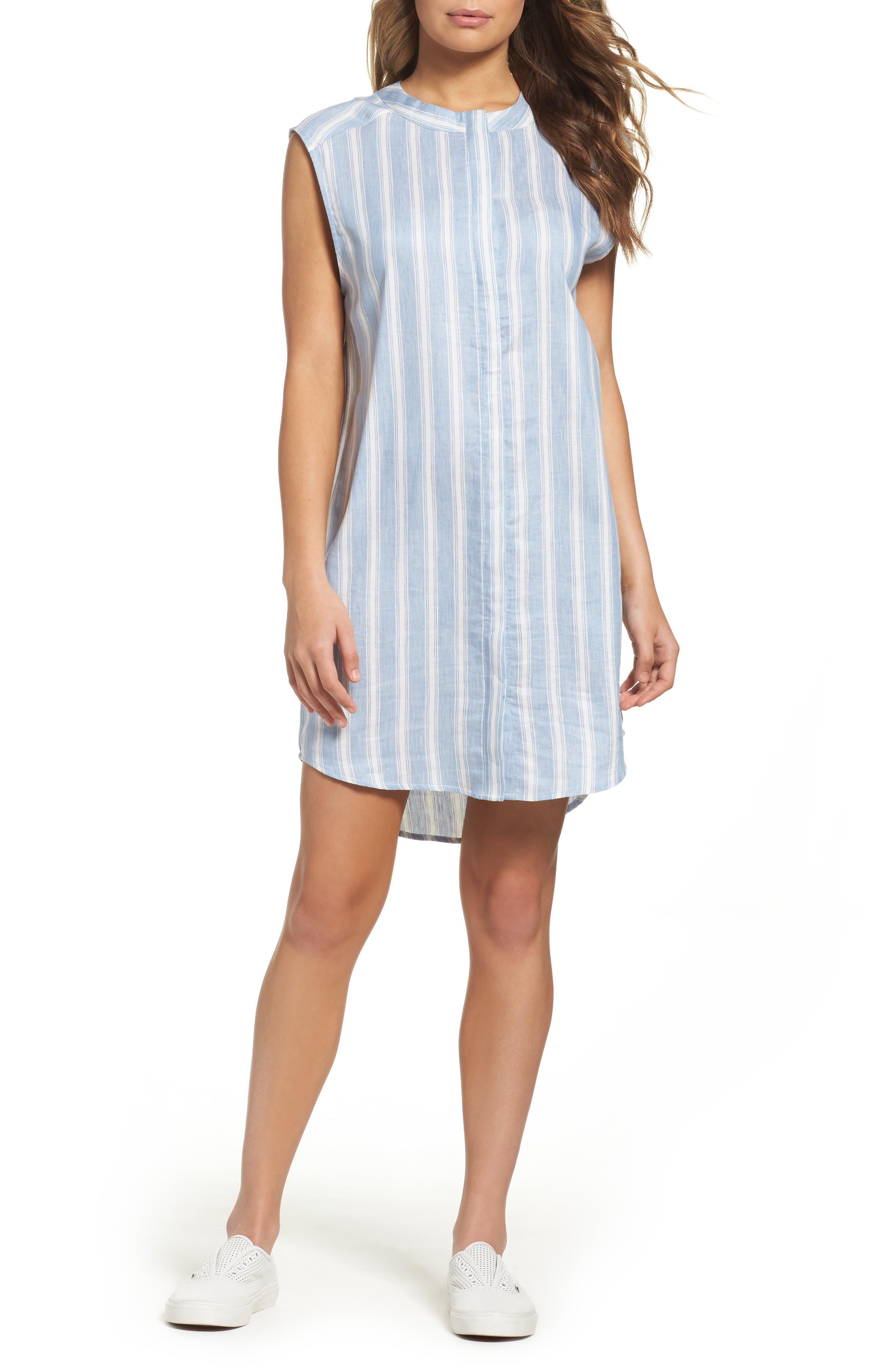 BB Dakota Sleeveless Chambray Shirtdress