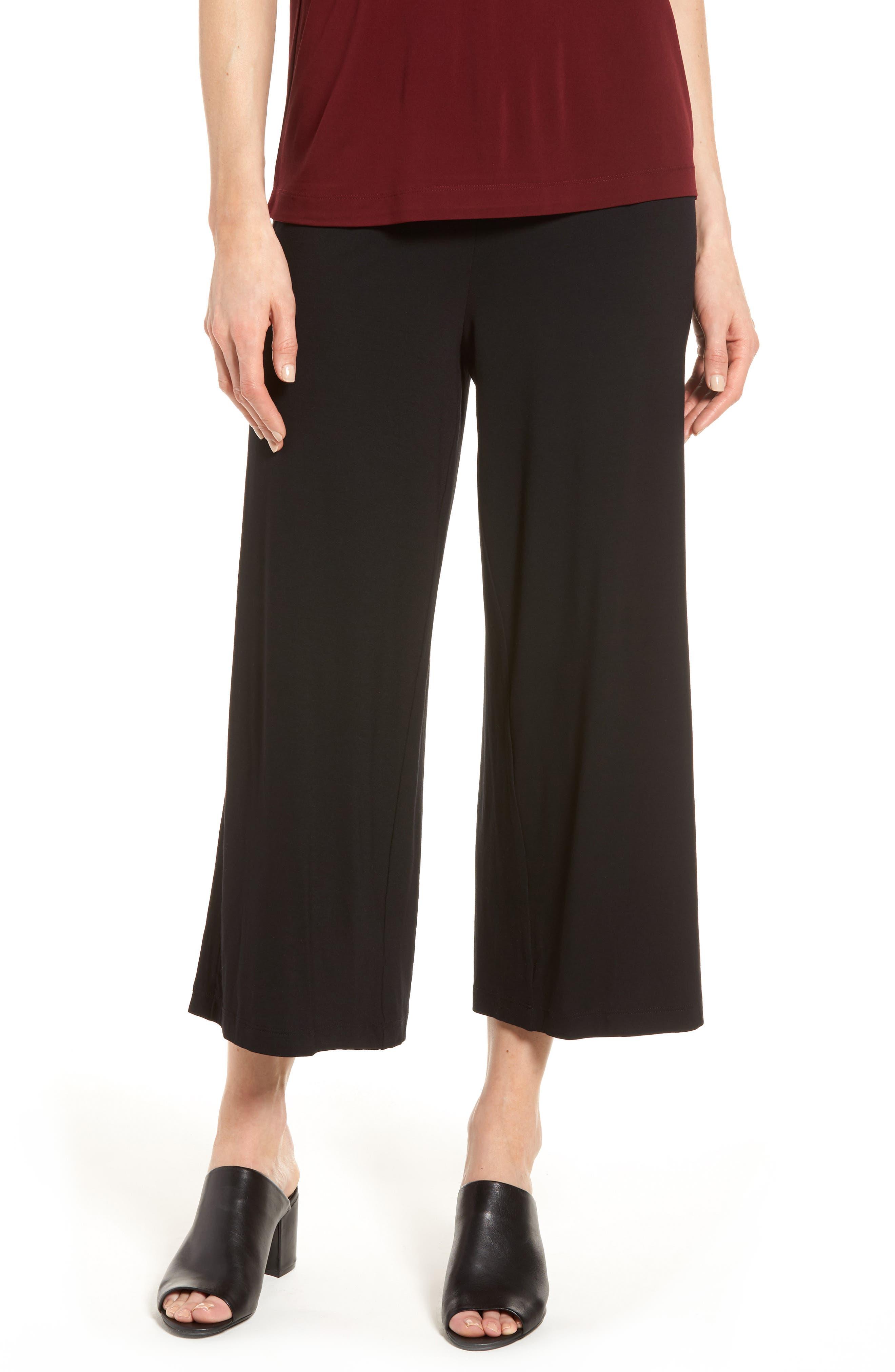 Eileen Fisher Side Slit Crop Jersey Pants