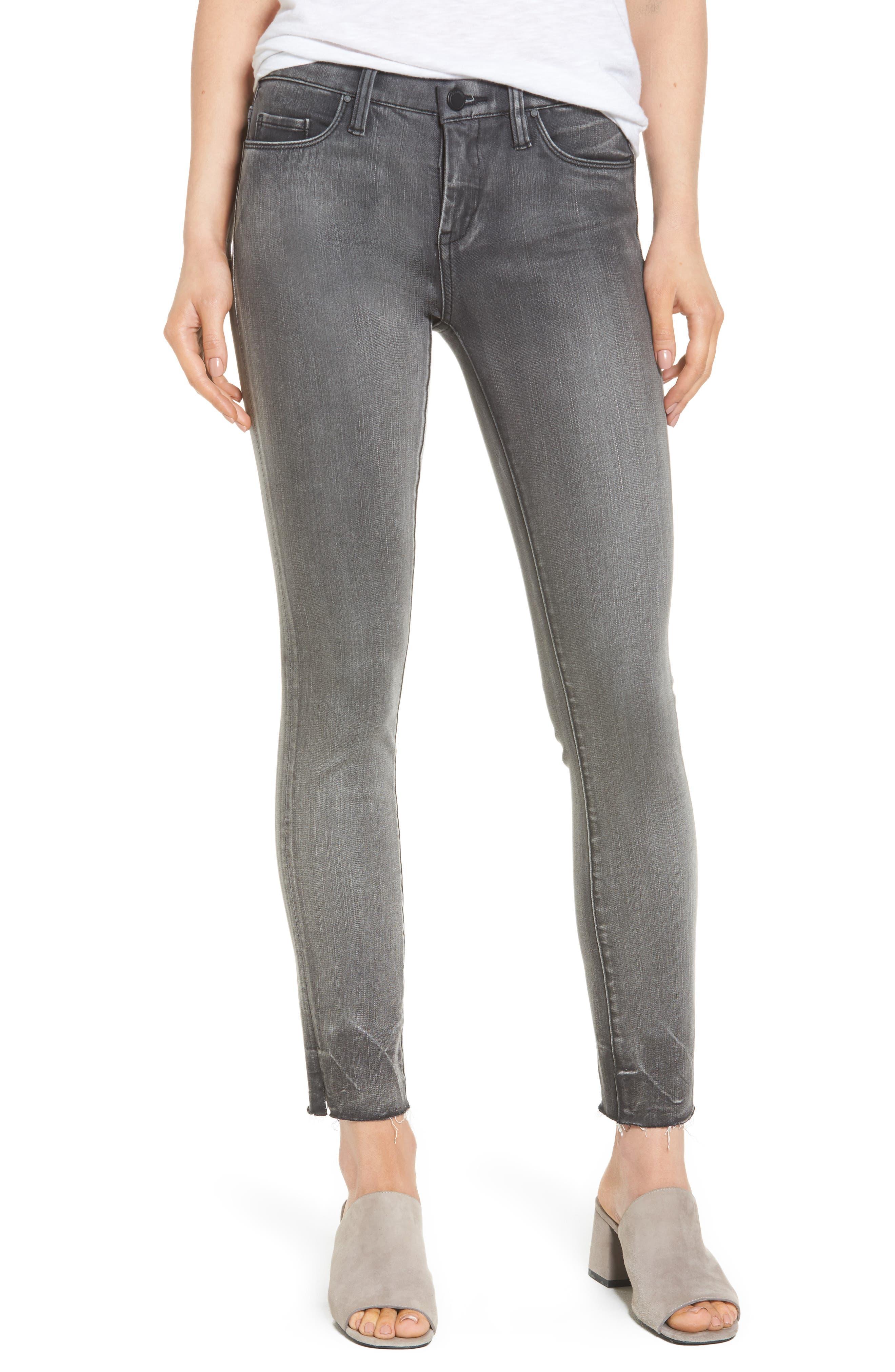 Alternate Image 1 Selected - BLANKNYC Skinny Jeans (Black Metal Dahlia)