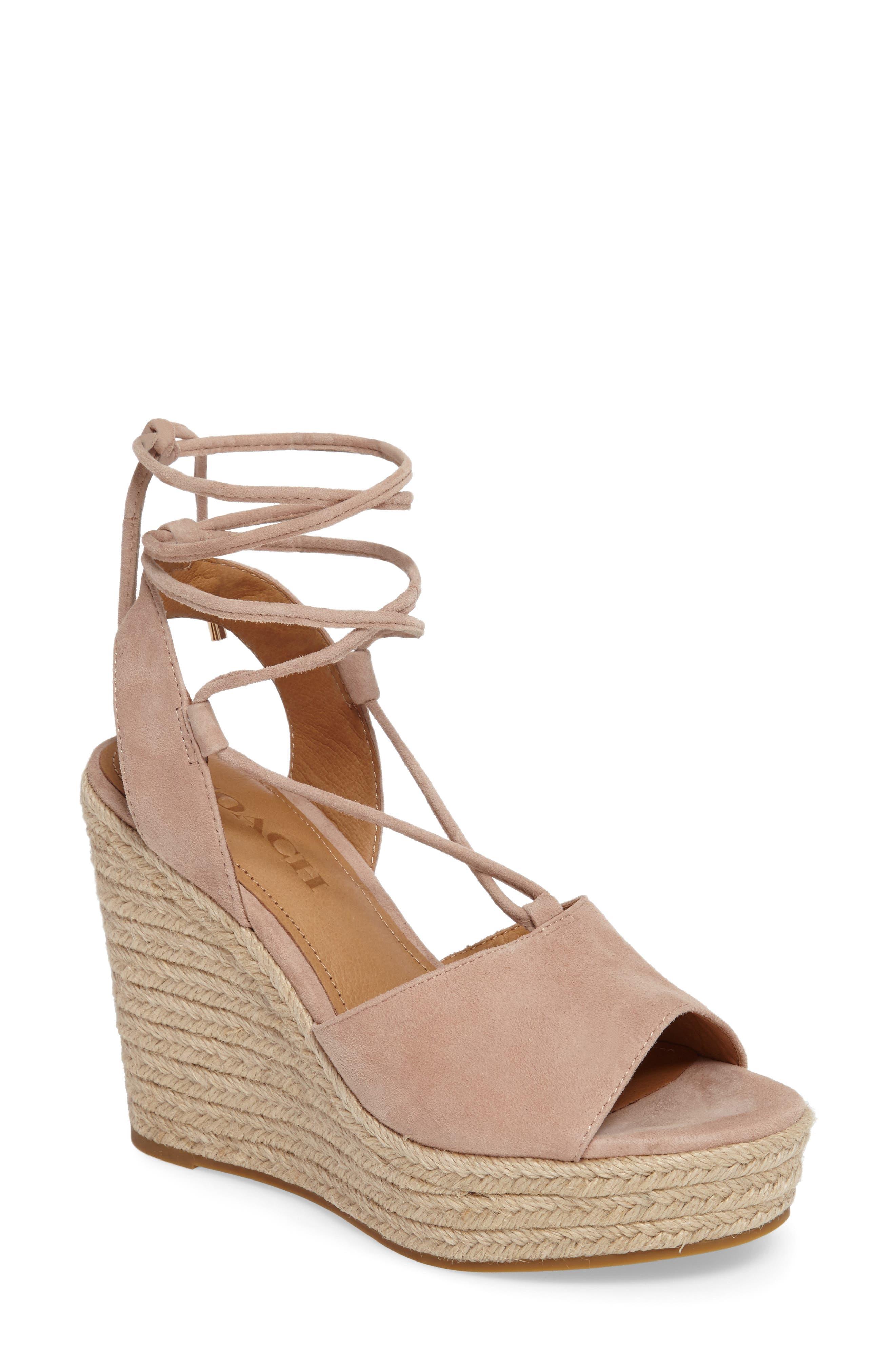COACH Dana Ankle Wrap Espadrille Sandal (Women)