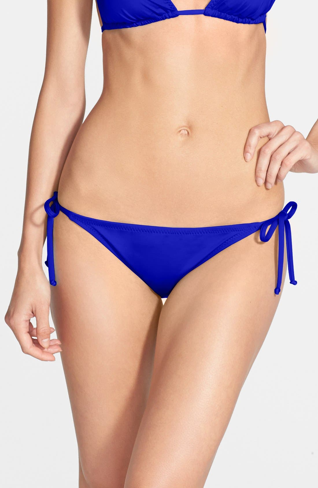 Main Image - Becca 'Color Code' Side Tie Bikini Bottoms