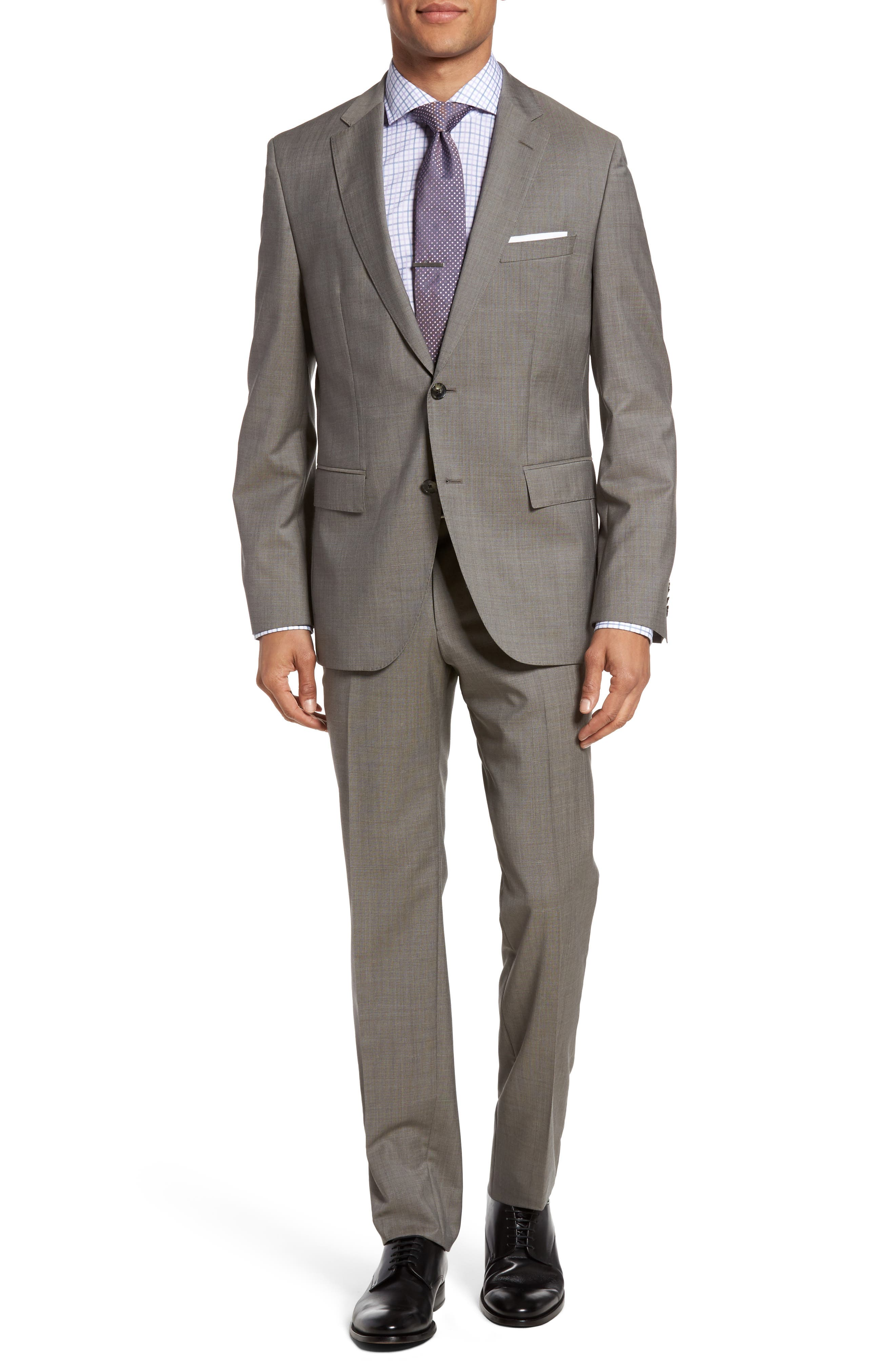 BOSS Johnstons/Lenon Trim Fit Solid Wool Suit