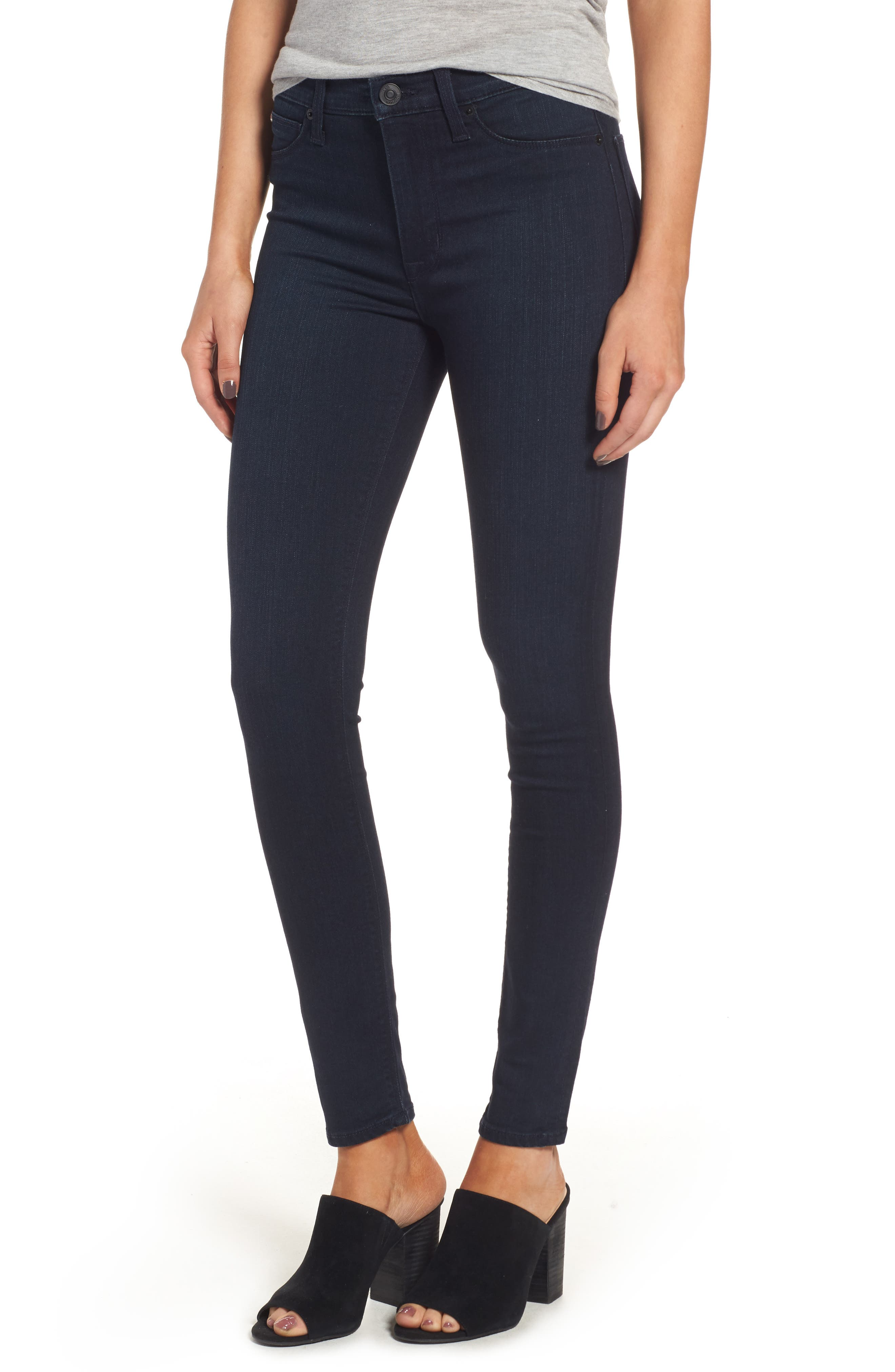 Hudson Jeans Barbara Supermodel High Waist Super Skinny Jeans (Longevity) (Long)