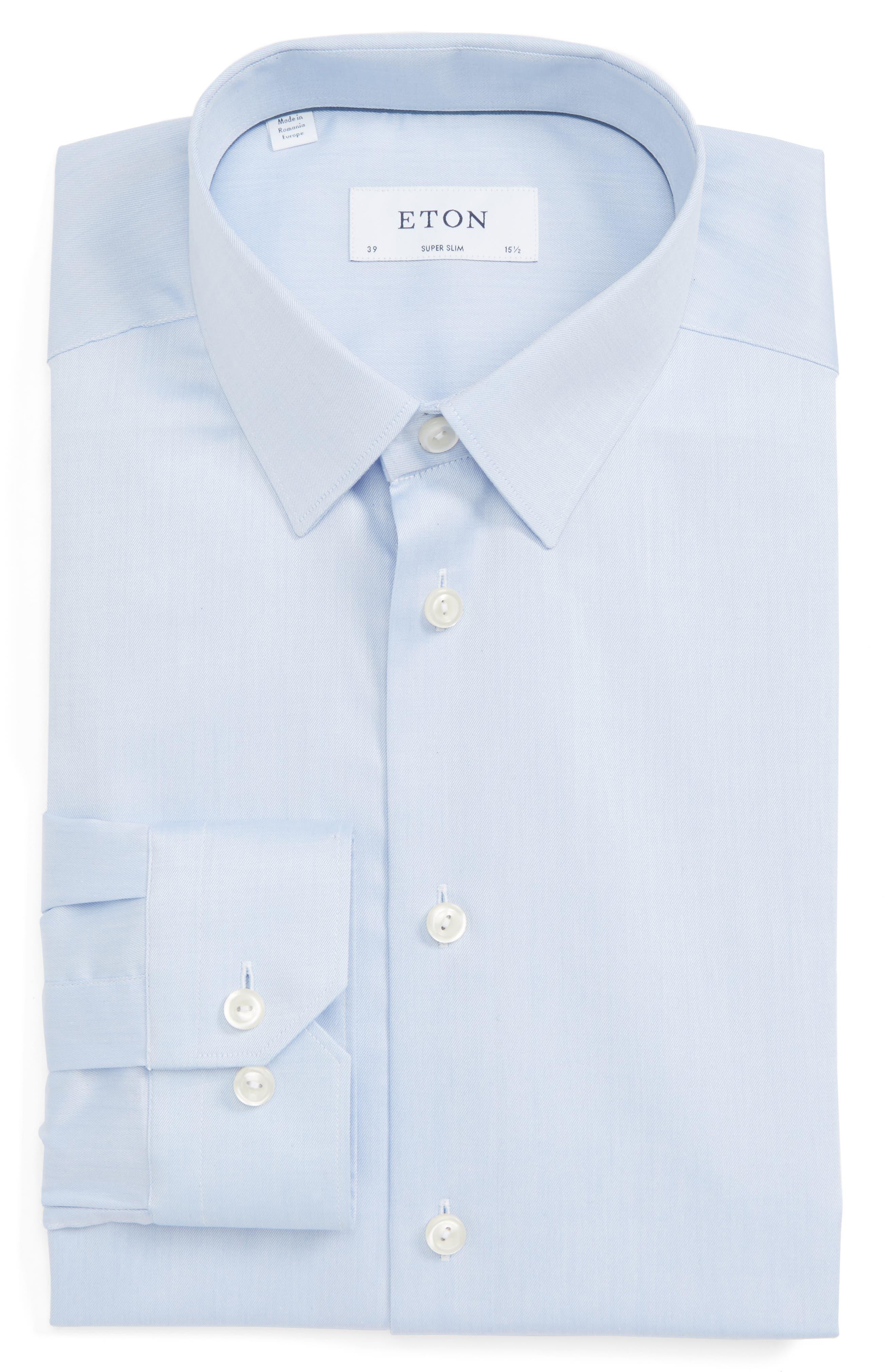 Eton Super Slim Fit Twill Dress Shirt