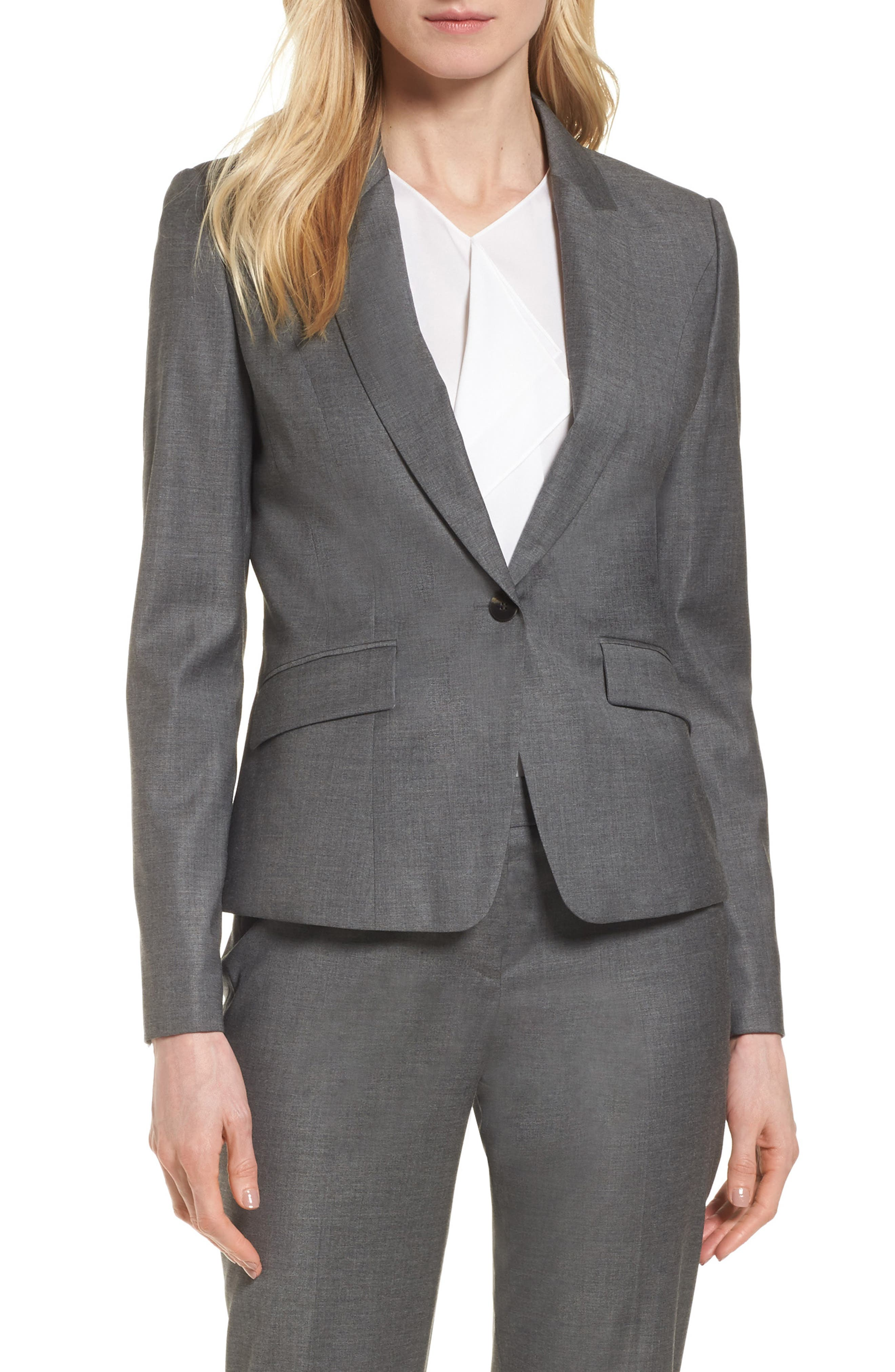 BOSS Janore Wool Blend Suit Jacket