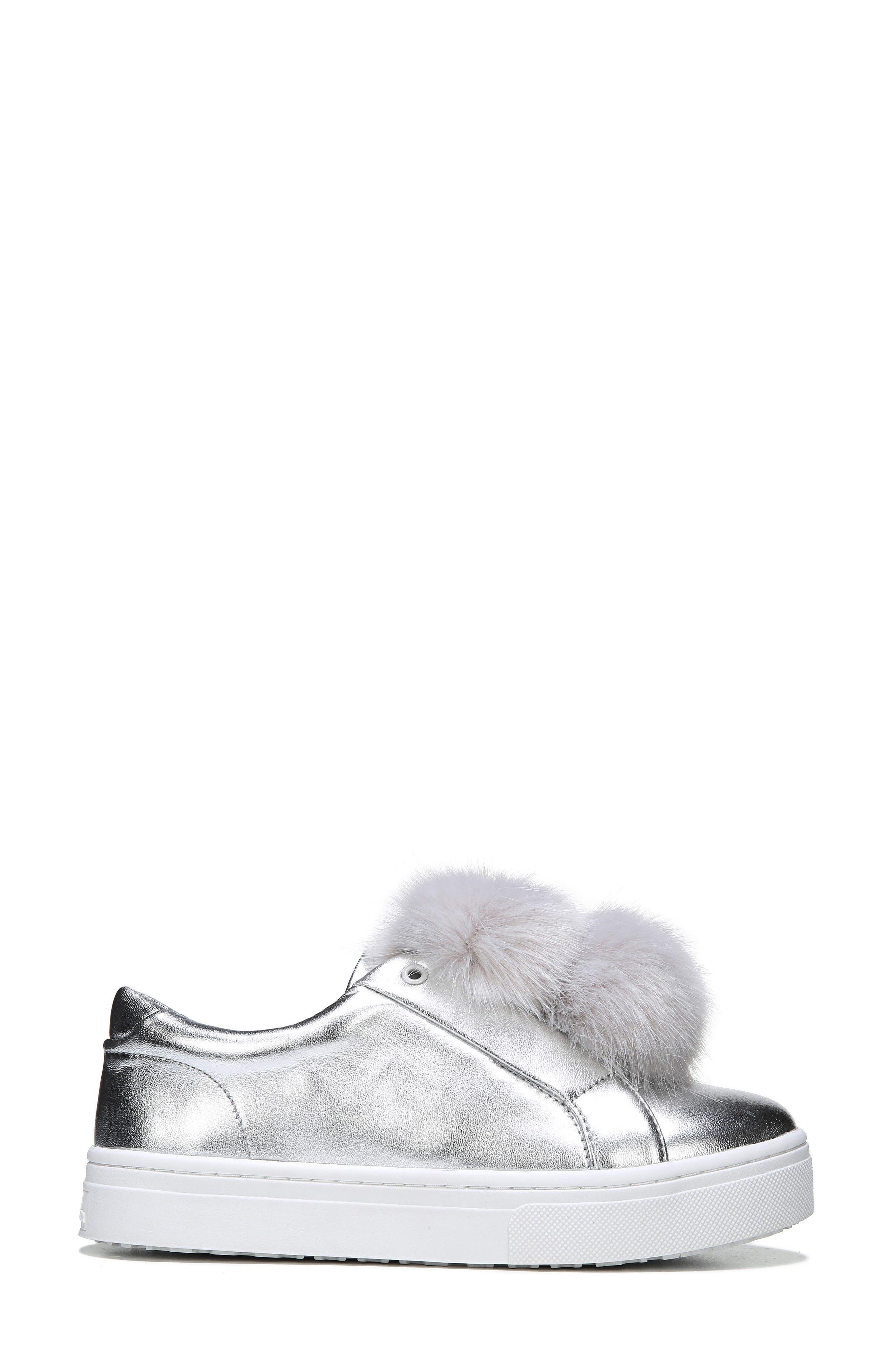 Alternate Image 3  - Sam Edelman 'Leya' Faux Fur Laceless Sneaker (Women)