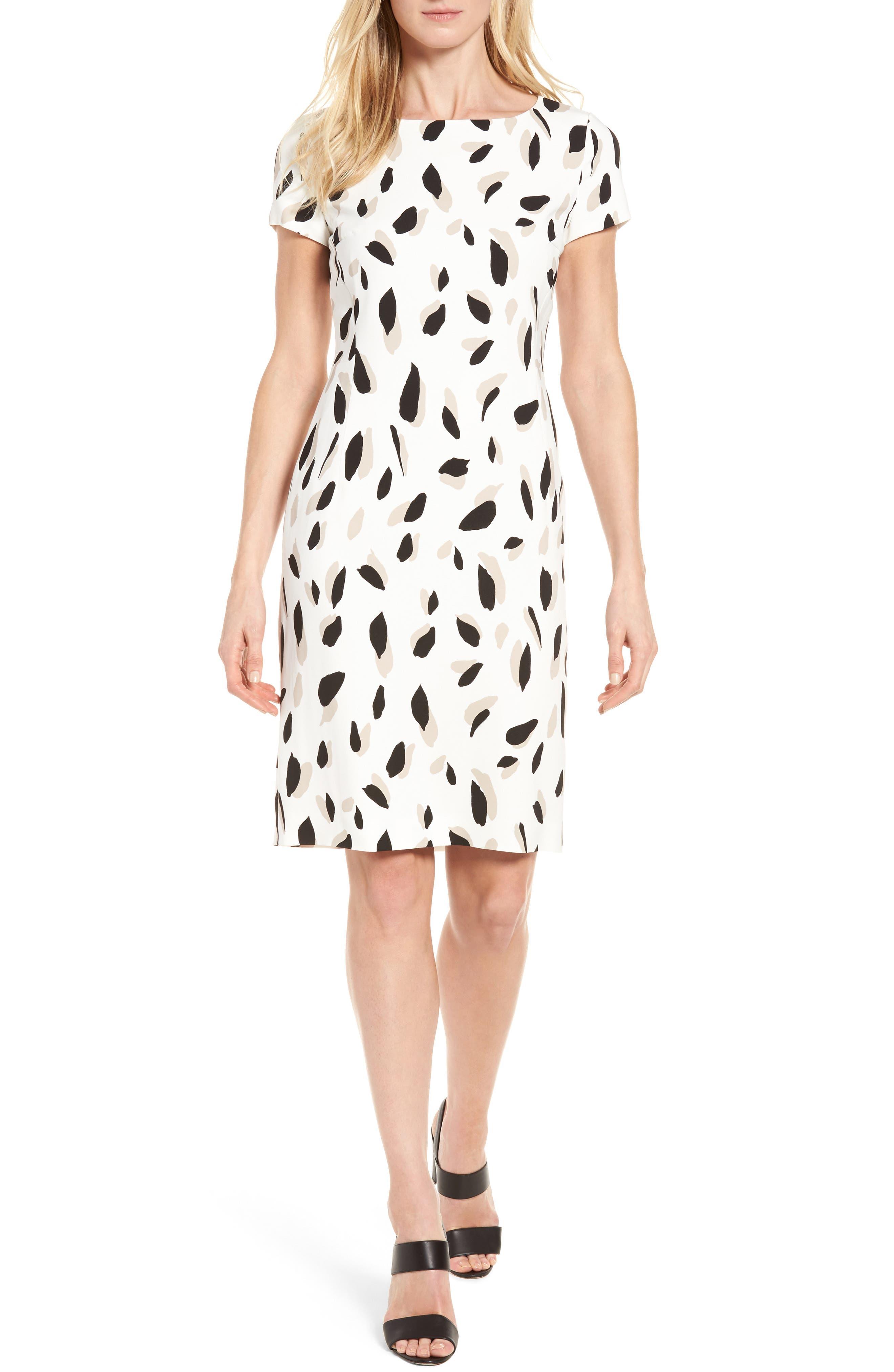 BOSS Donisa Shadow Print Sheath Dress