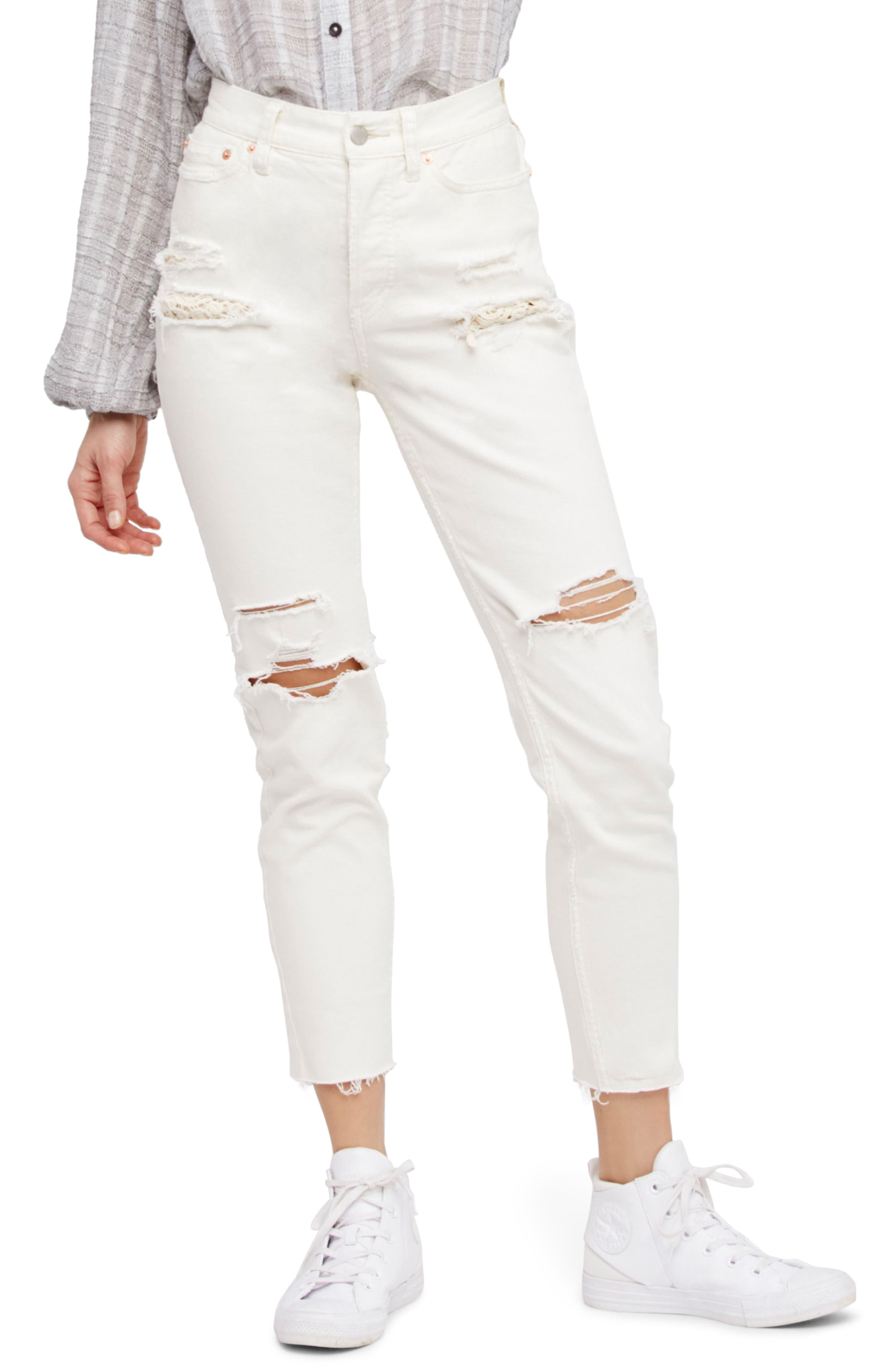 Free People Lacey Stilt Embellished Skinny Jeans