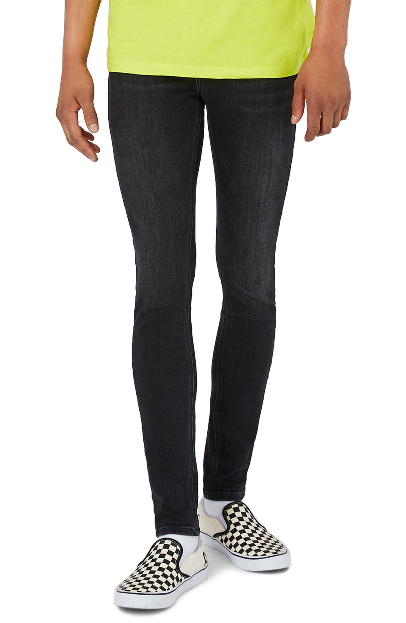 Topman Super Spray-On Skinny Fit Jeans