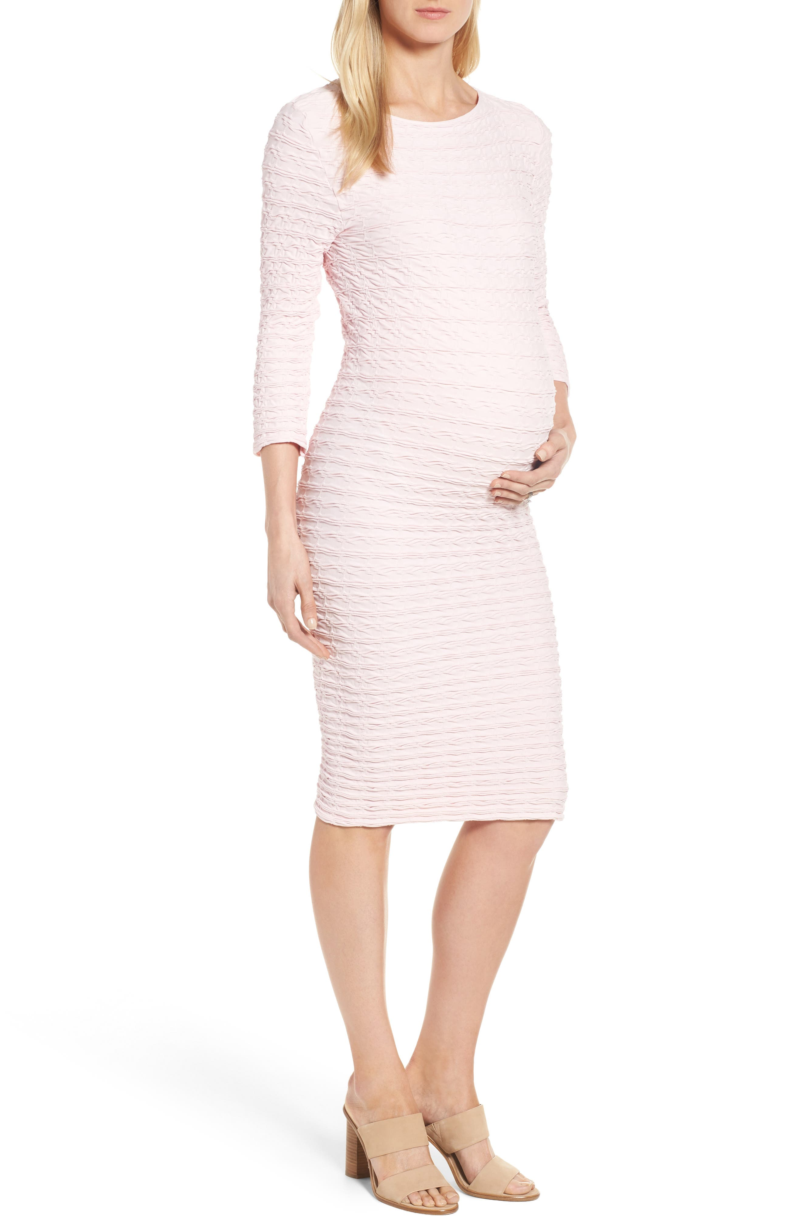 Tees by Tina 'Crinkle' Maternity Midi Dress
