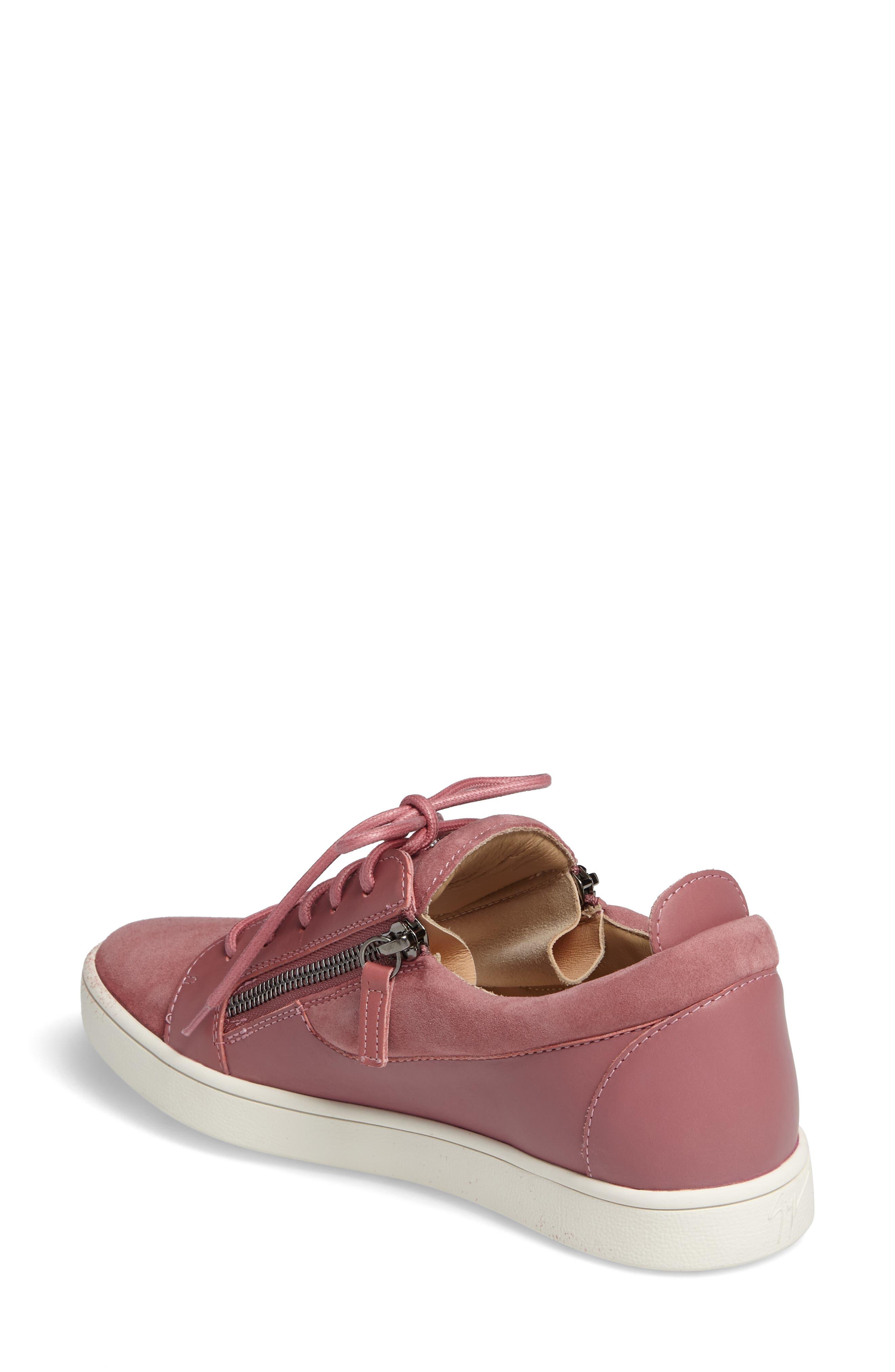 Alternate Image 2  - Giuseppe Zanotti Low Top Zip Sneaker (Women)