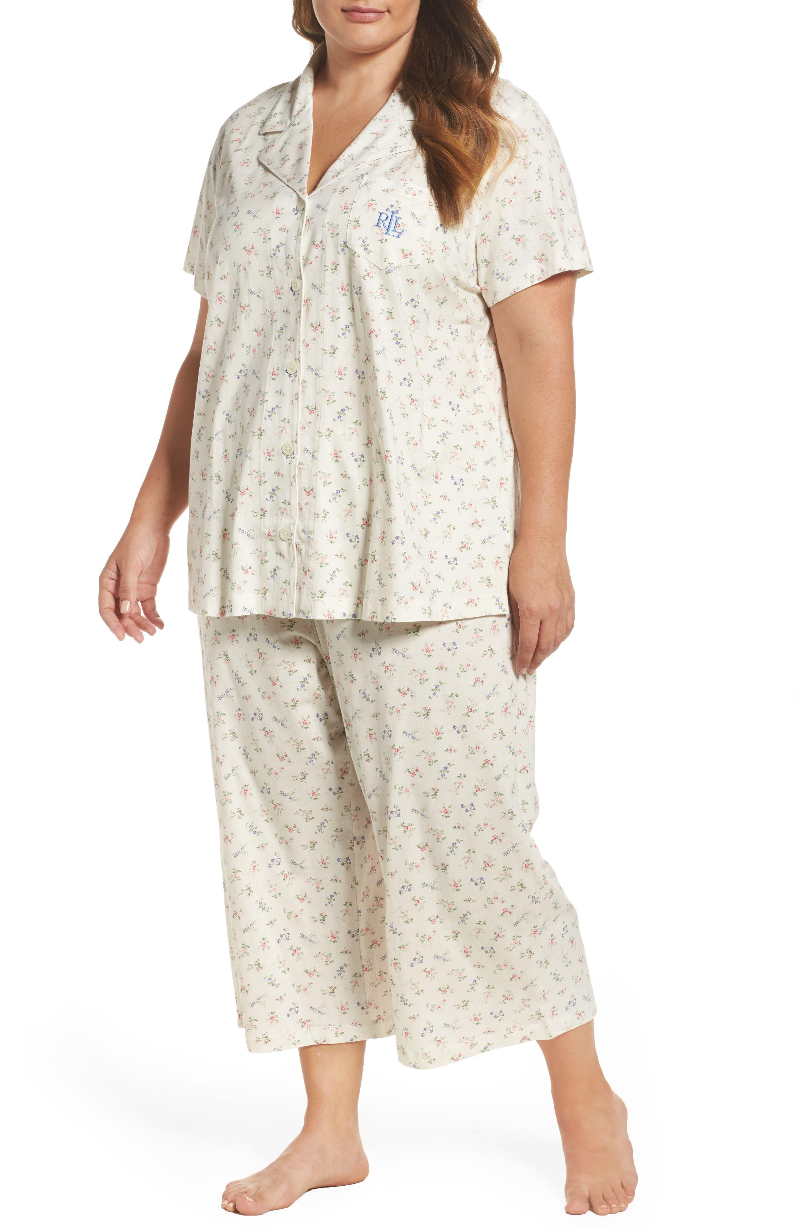 Lauren Ralph Lauren Knit Capri Pajamas (Plus Size)