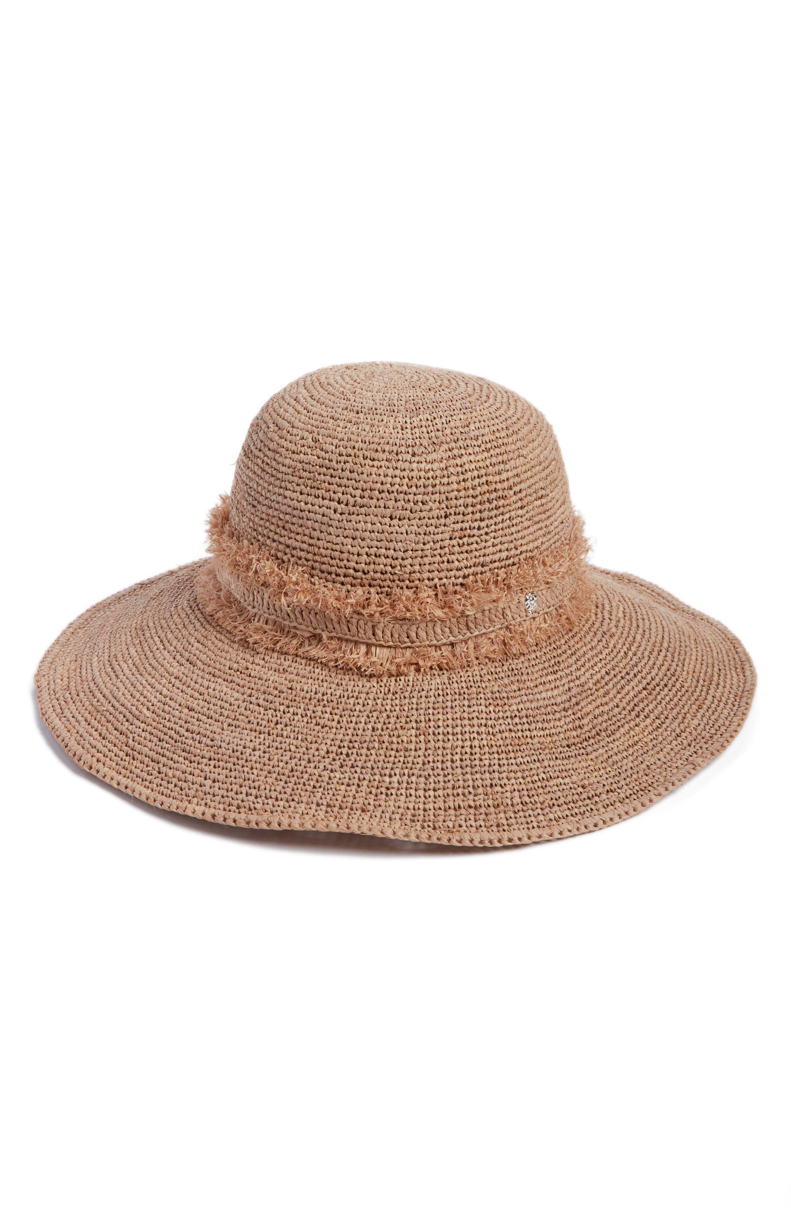 Helen Kaminski Palm Desert Wide Brim Raffia Straw Hat