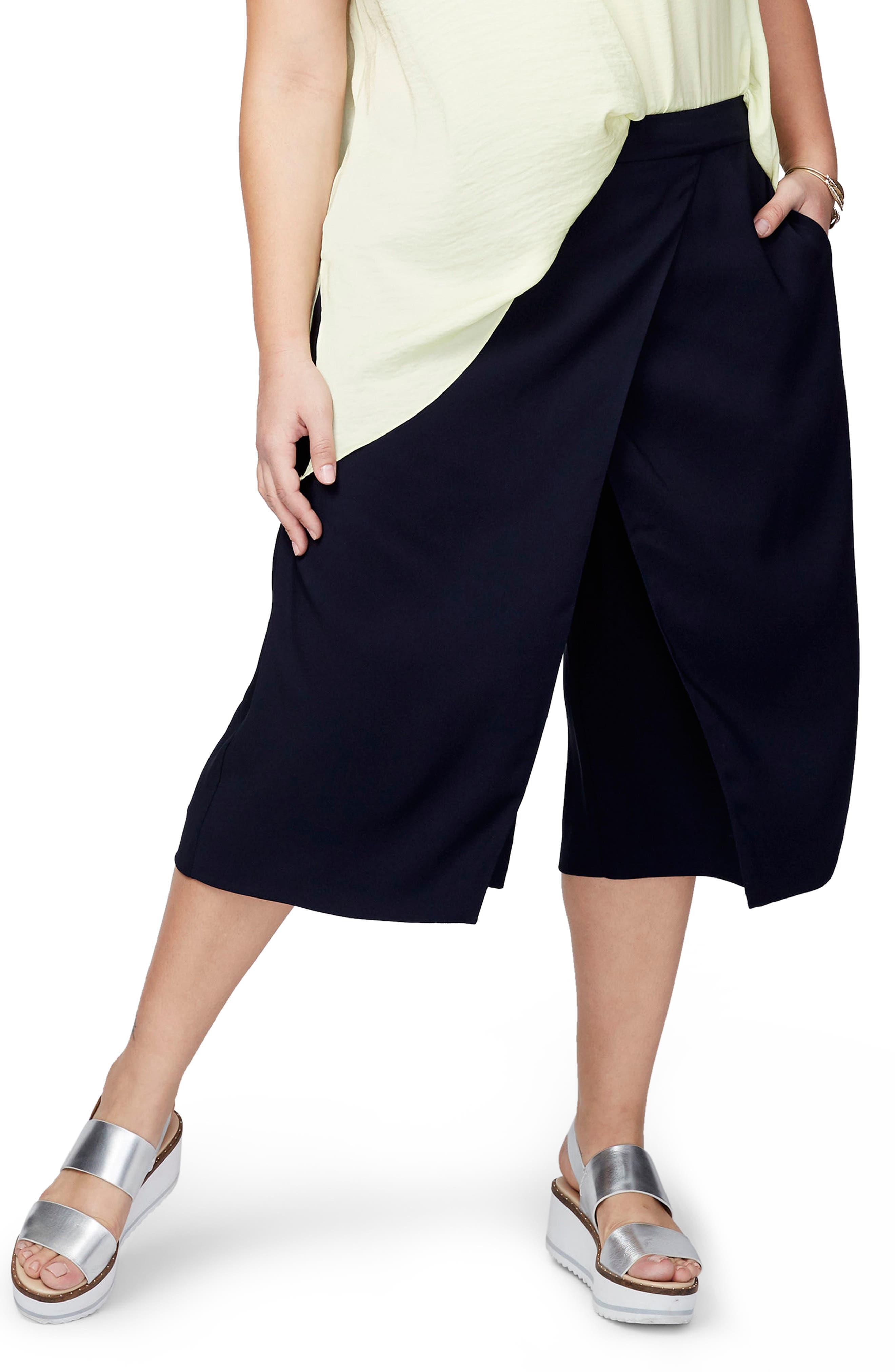 RACHEL Rachel Roy Wrap Gauchos (Plus Size)