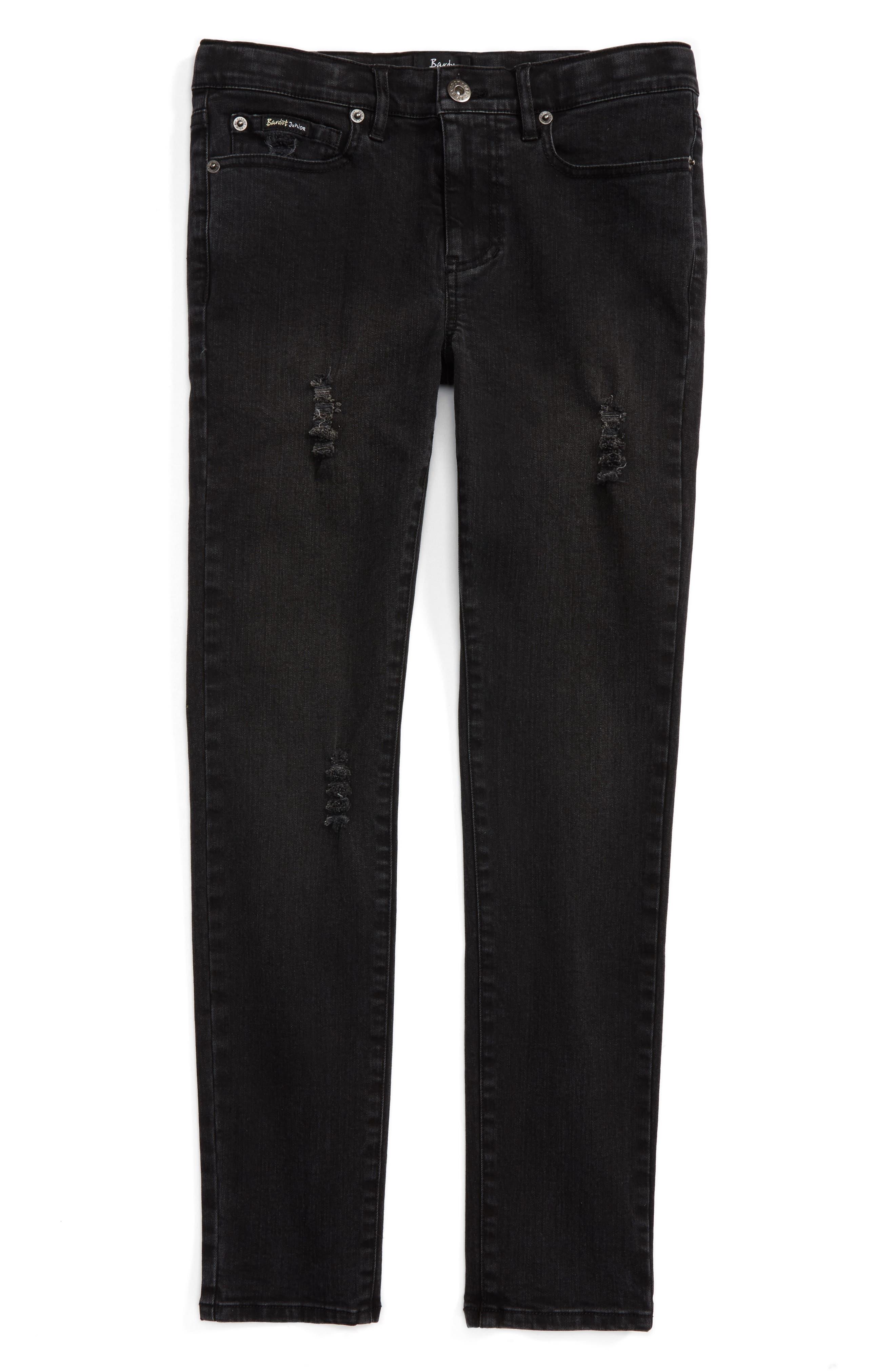Bardot Junior Axl Distressed Skinny Jeans (Big Boys)