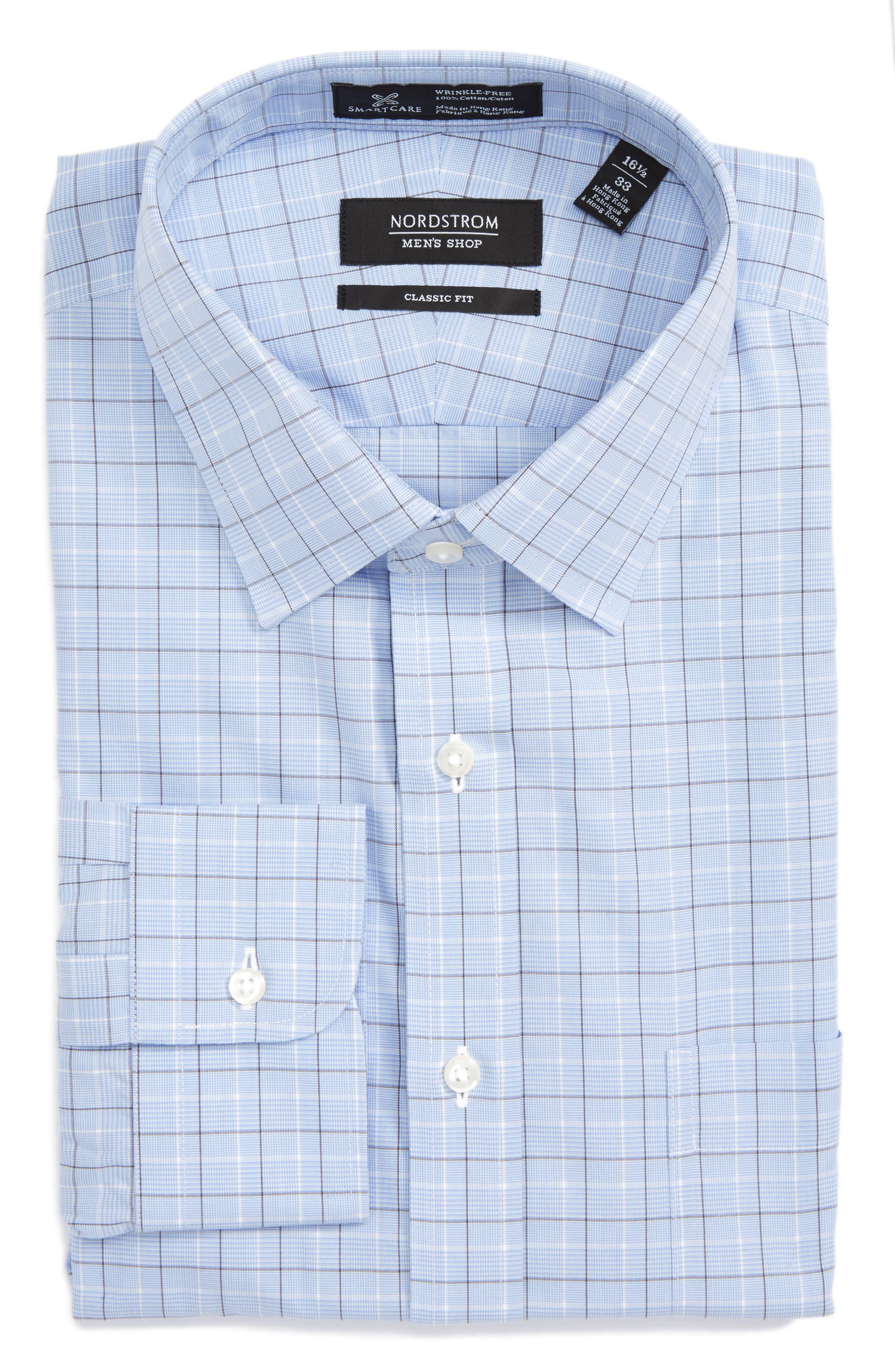 NORDSTROM MEN'S SHOP Smartcare™ Classic Fit Check Dress