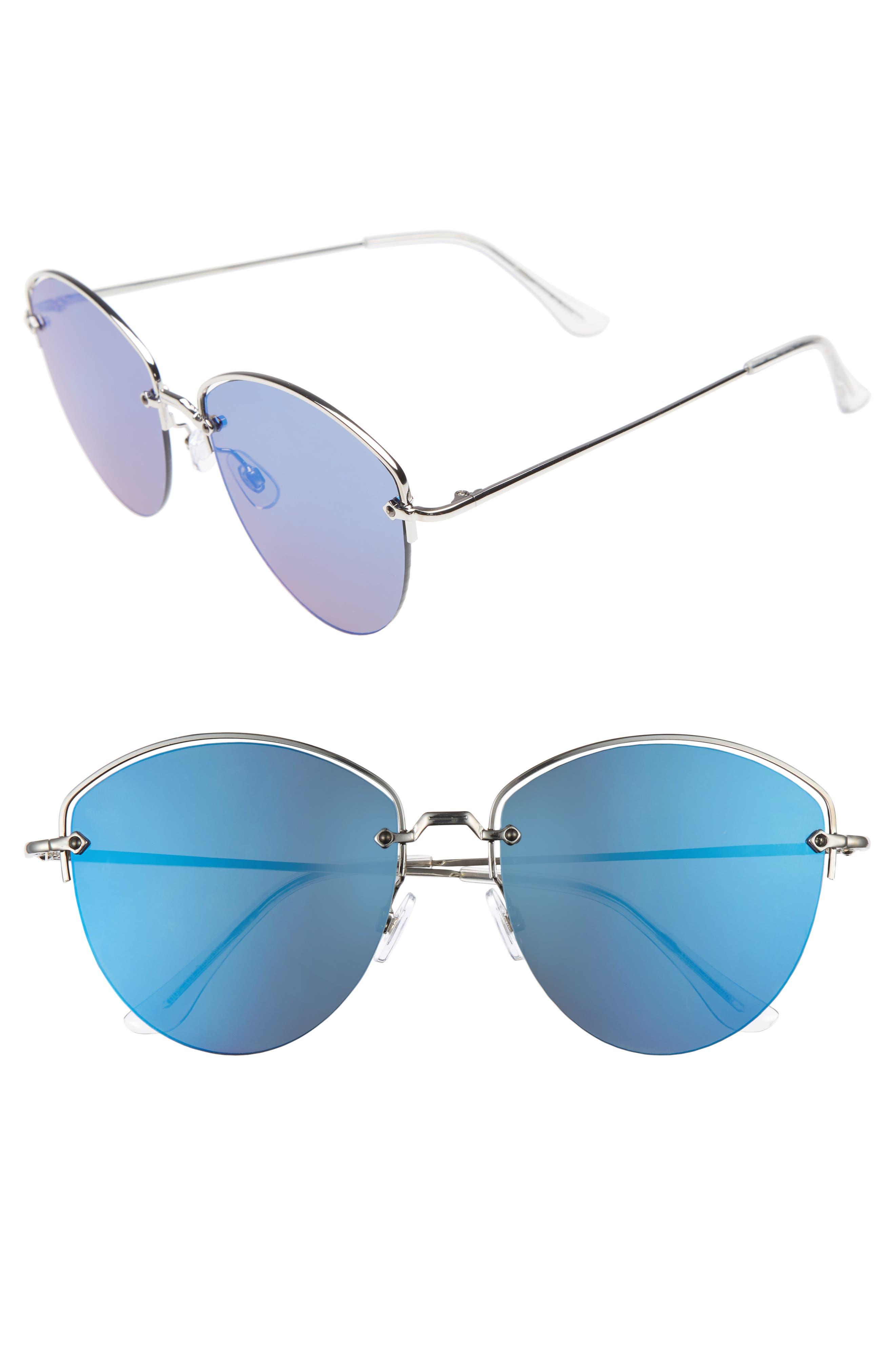 BP. 60mm Half Frame Aviator Sunglasses
