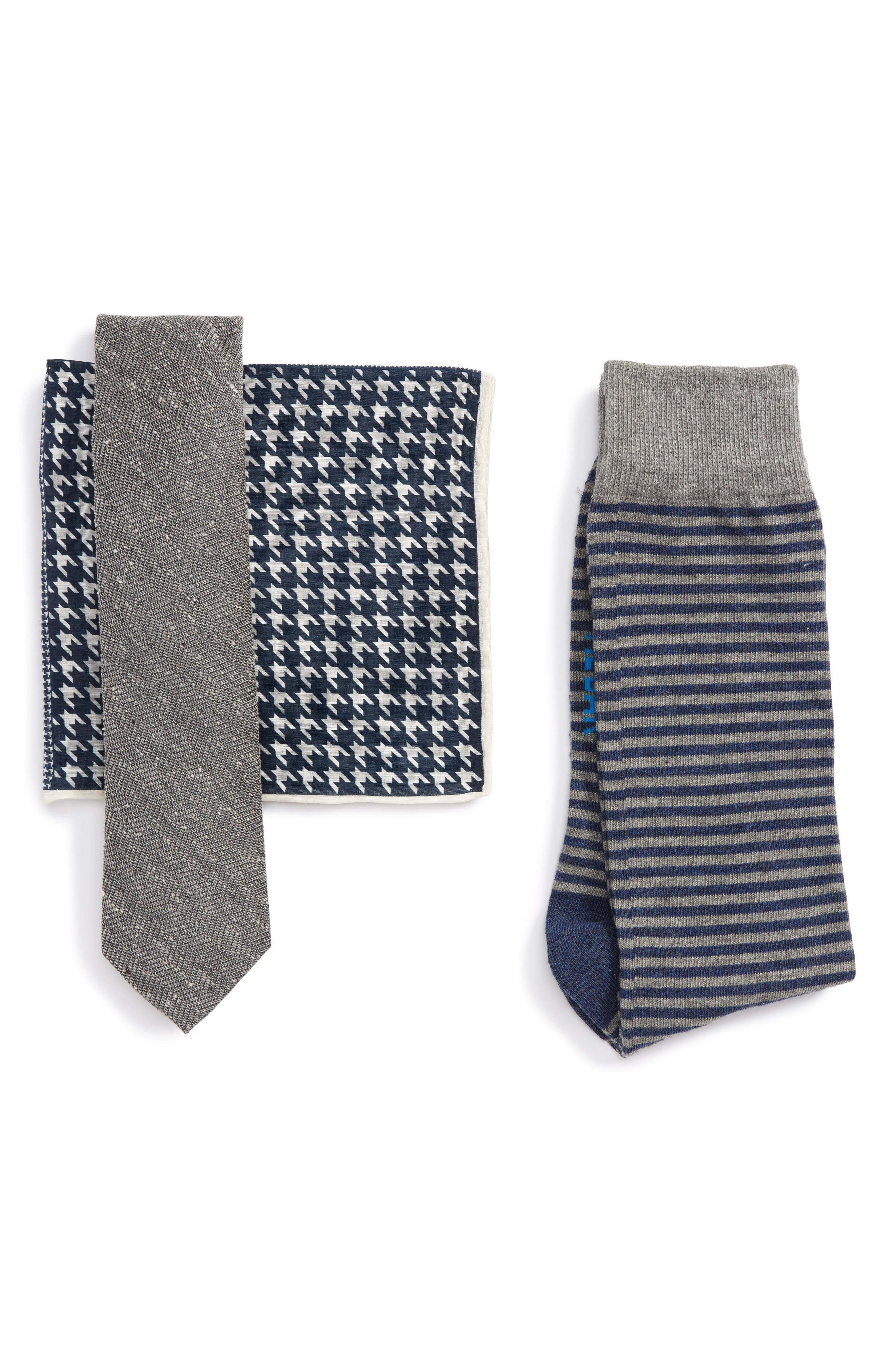 The Tie Bar Tie, Pocket Square & Sock Style Box