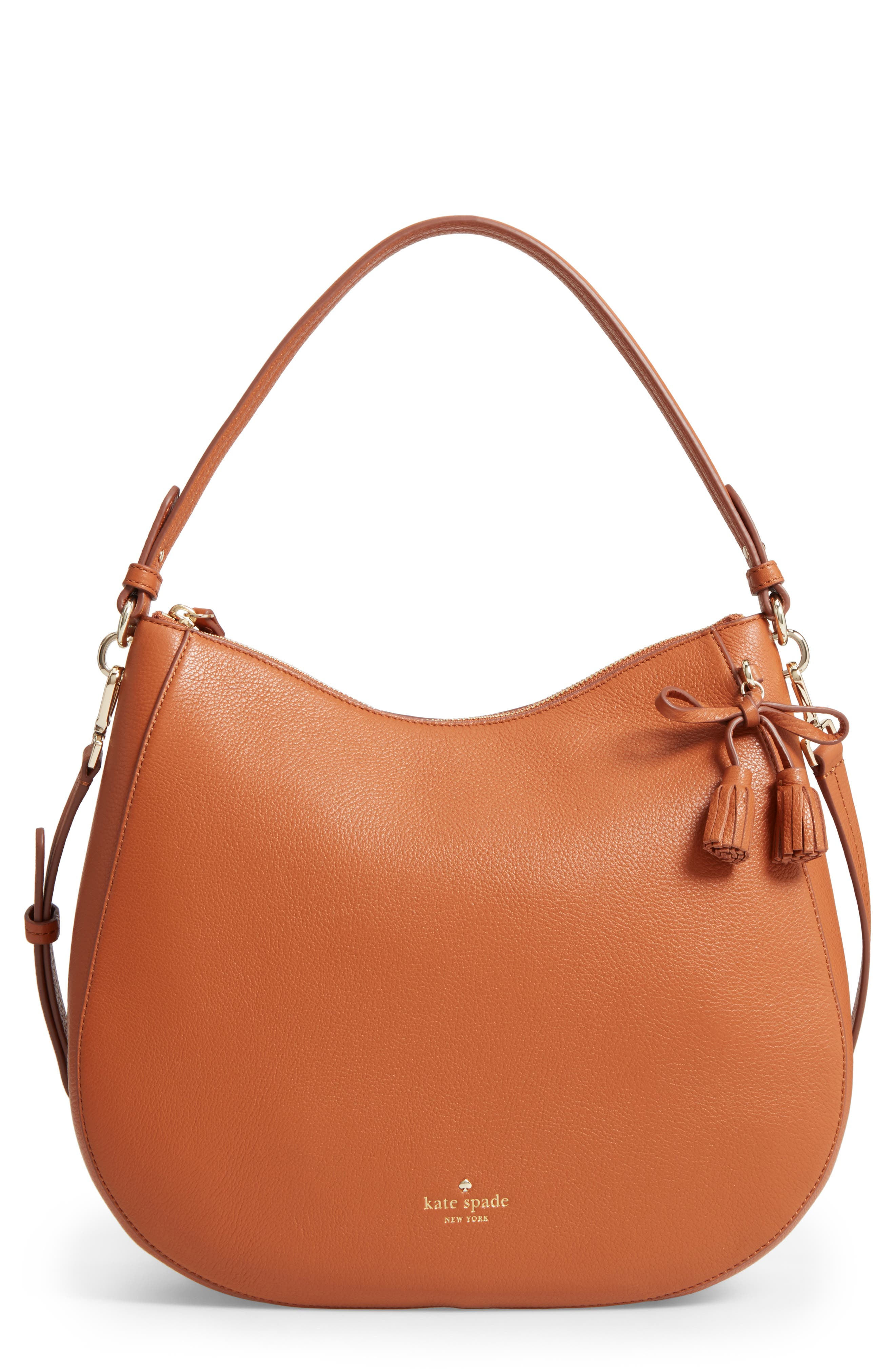 kate spade new york hayes street aiden leather hobo
