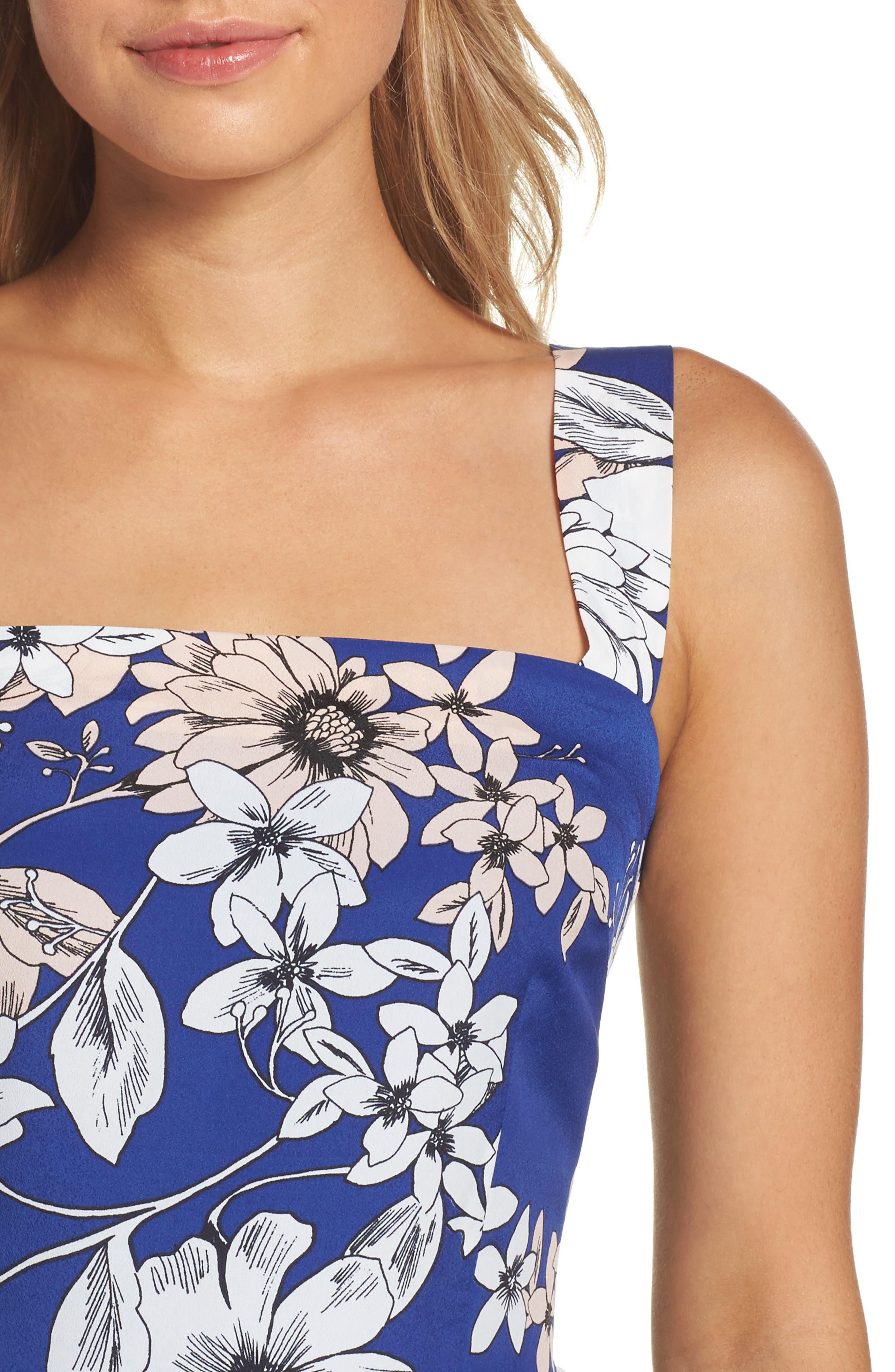 Alternate Image 4  - Eliza J Floral Print Fit & Flare Dress