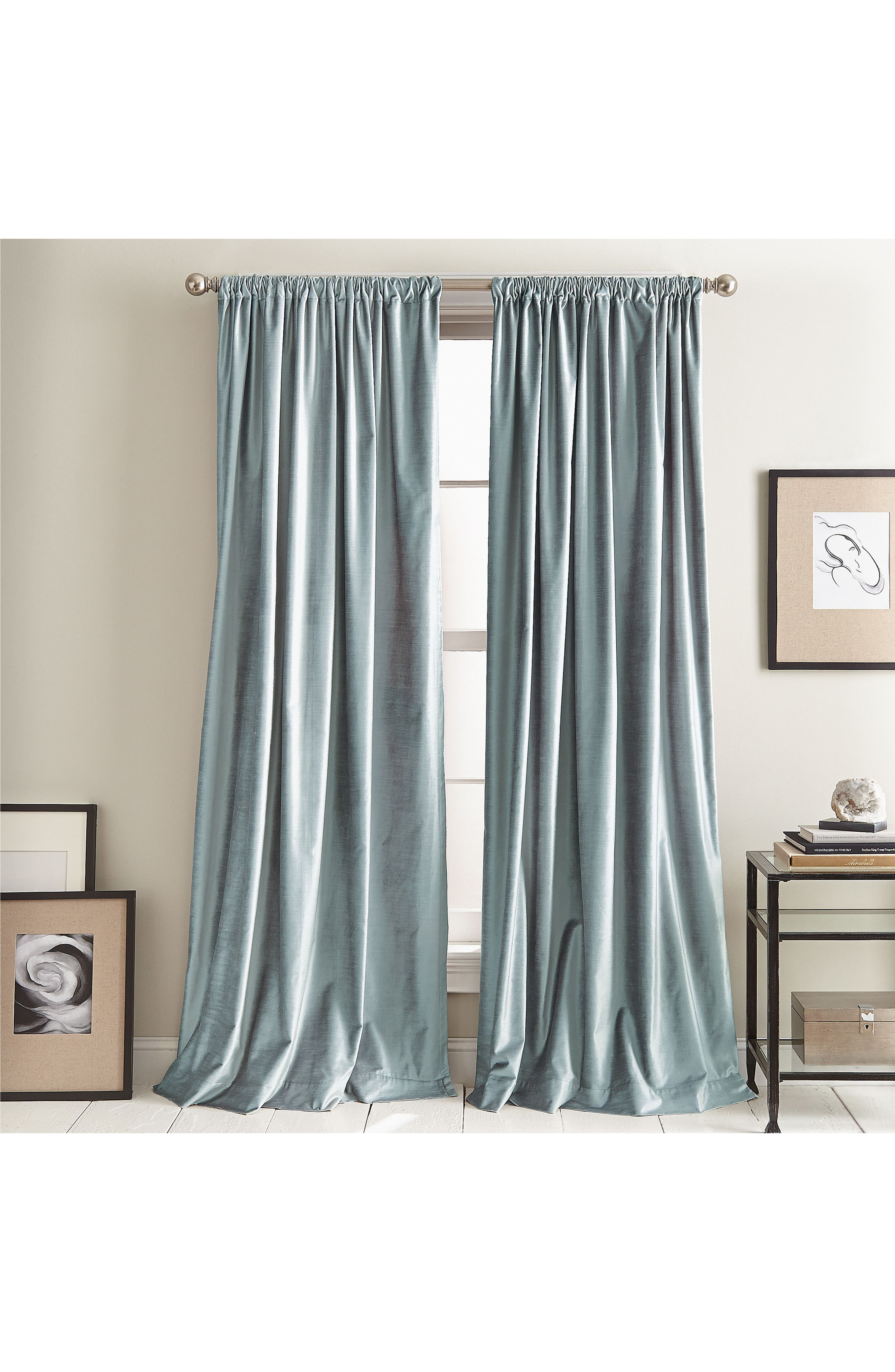 DKNY Modern Slub Velvet Window Panels