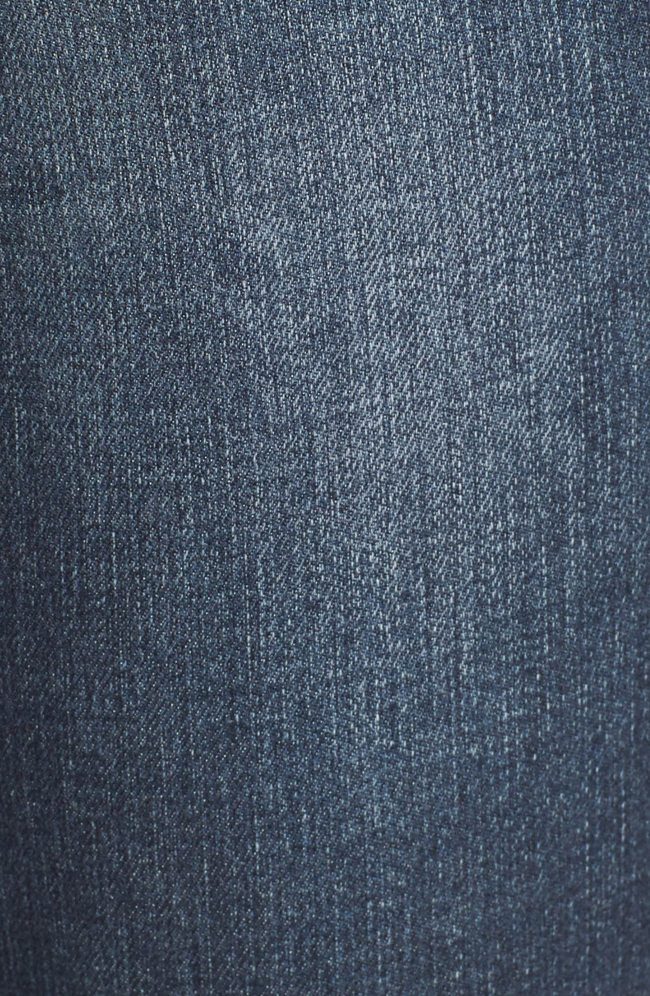 Alternate Image 5  - Articles of Society Carly Release Hem Crop Skinny Jeans (Blue Fly)