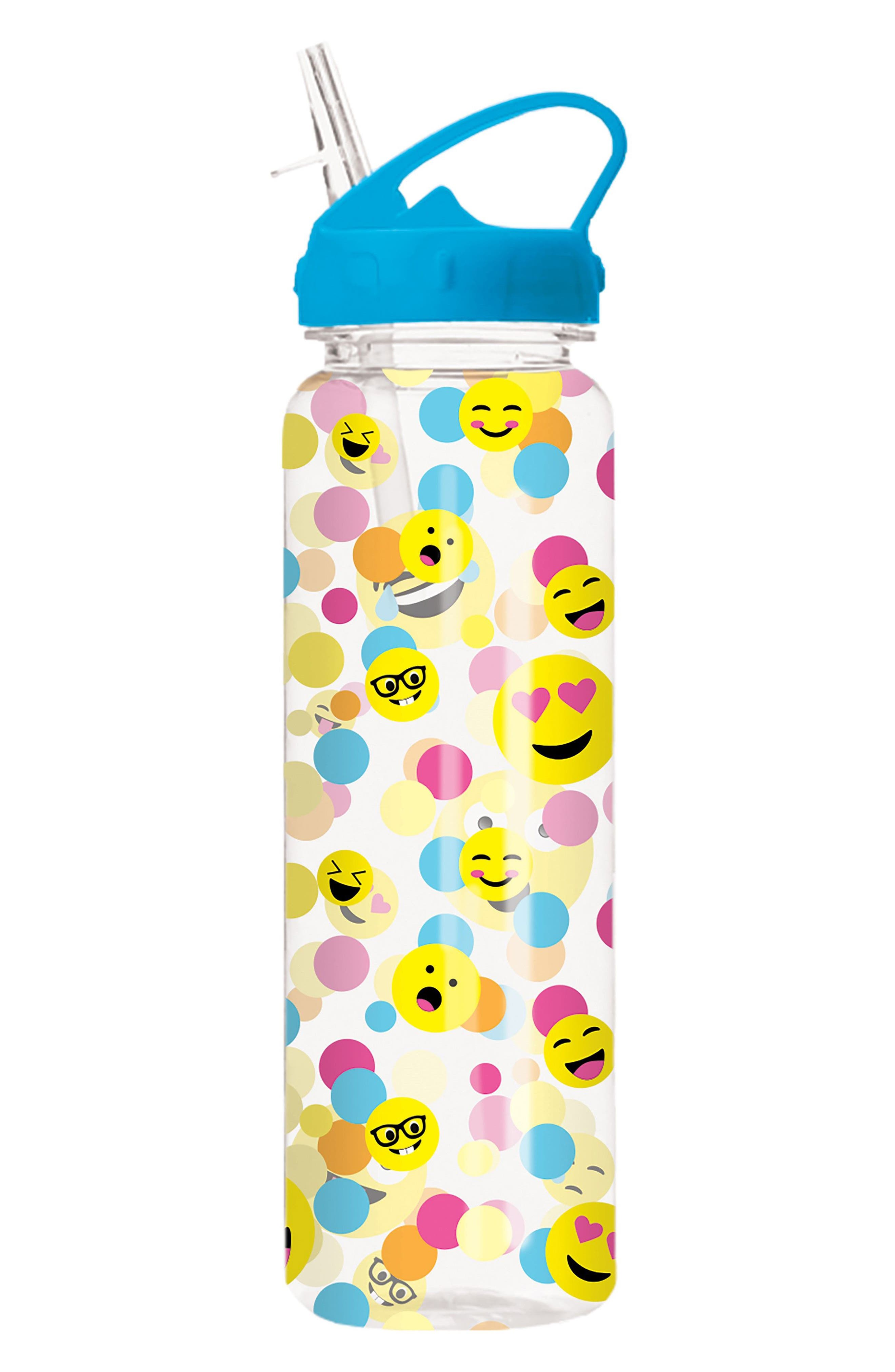 Iscream Confetti Emojii Water Bottle