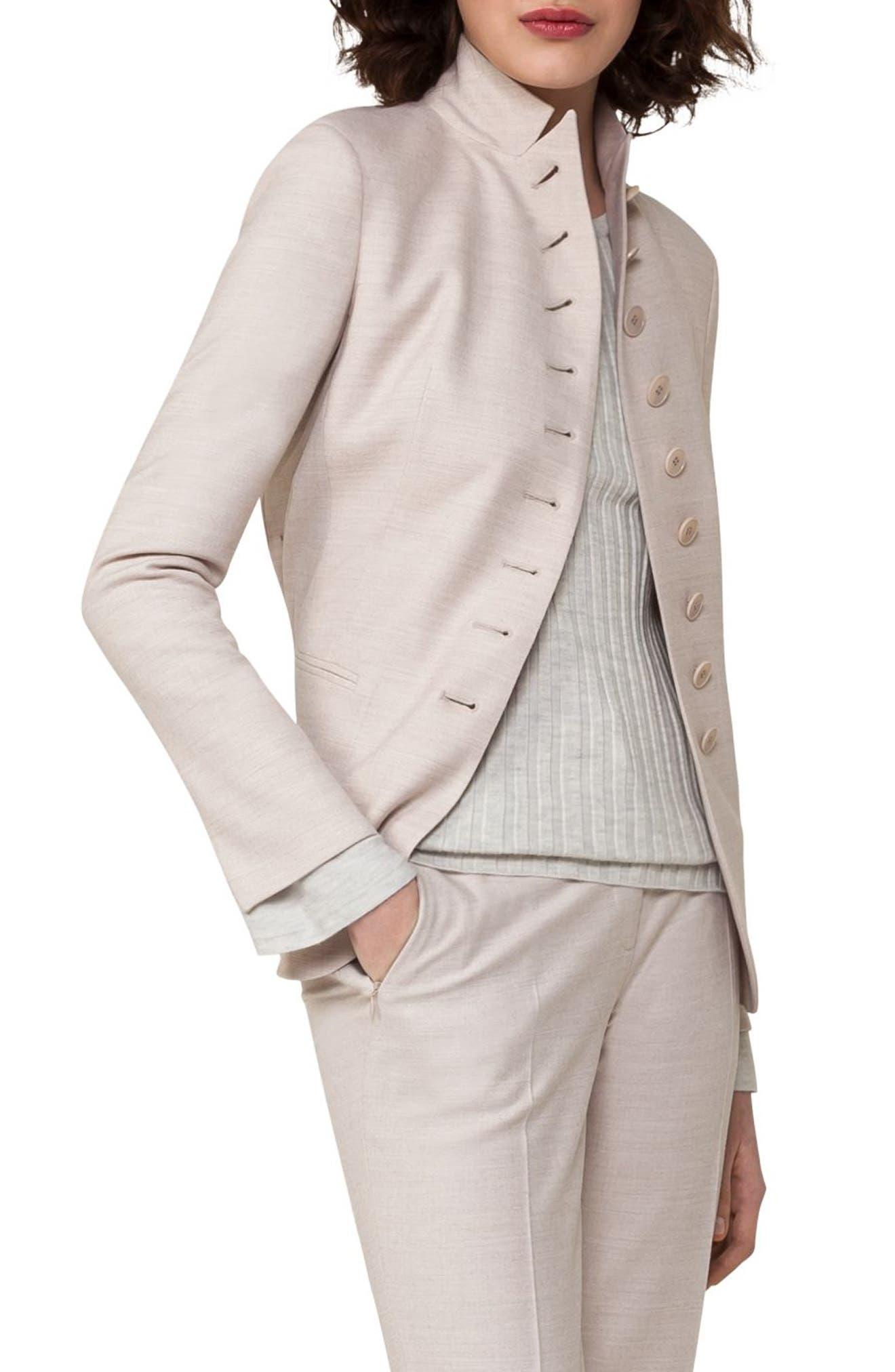 Akris Stretch Wool Flannel Jacket