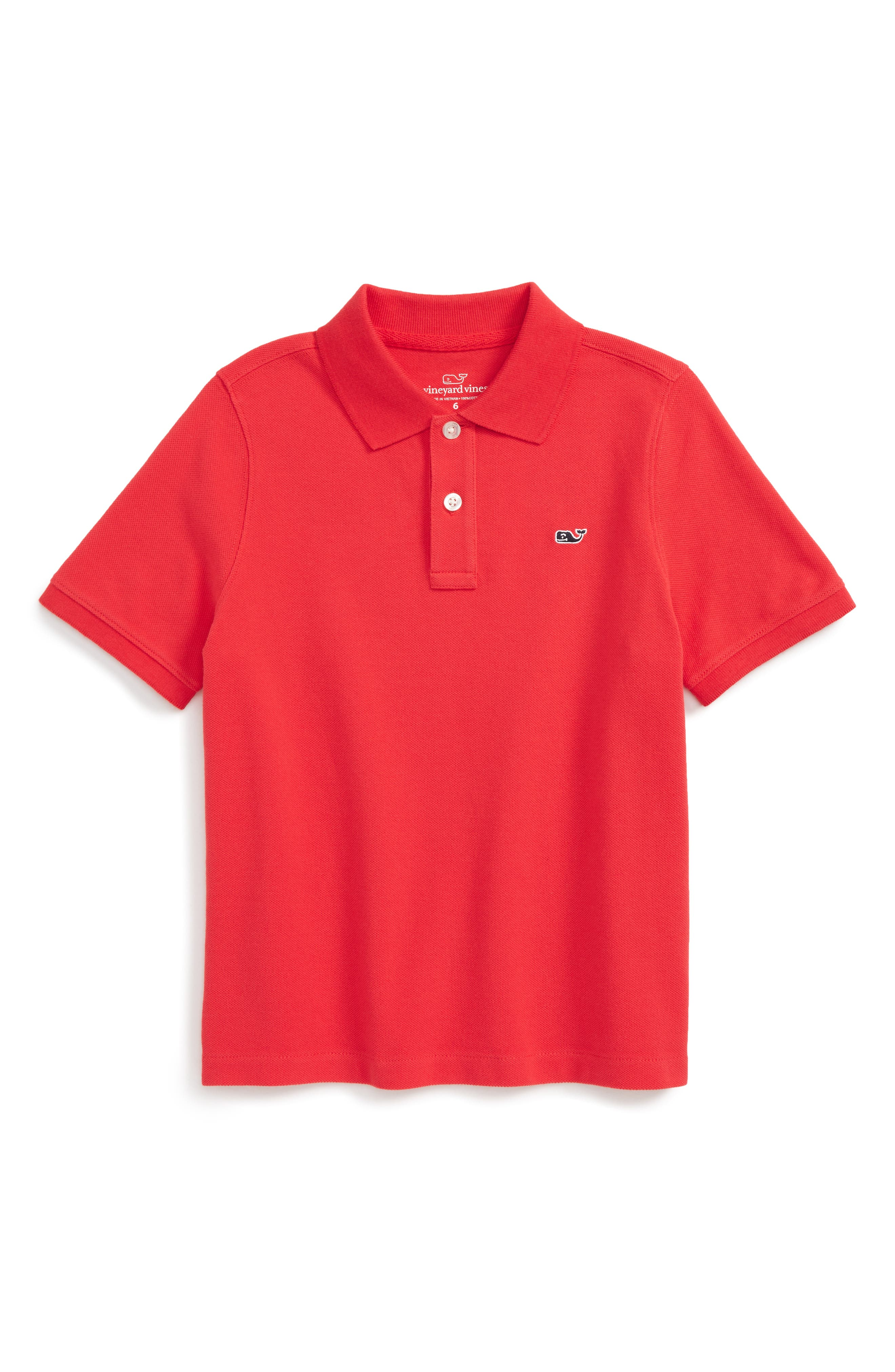 Vineyard Vines 'Classic' Piqué Cotton Polo (Big Boys)
