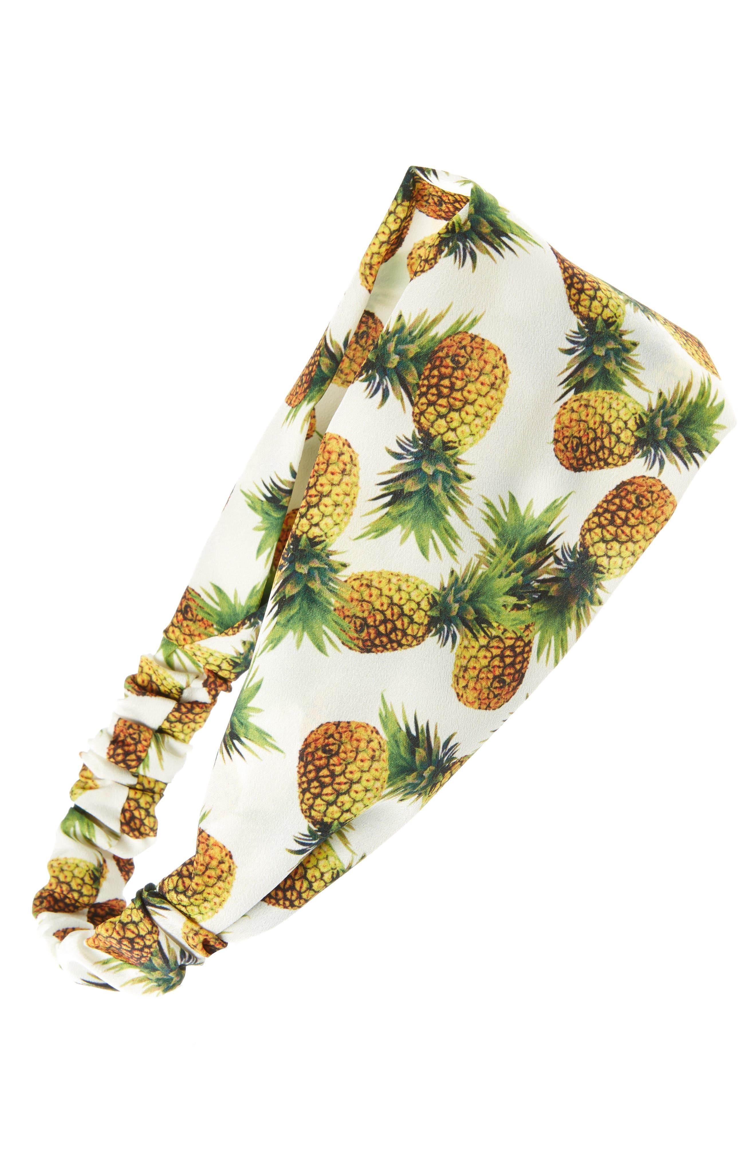 Cara Pineapple Print Head Wrap