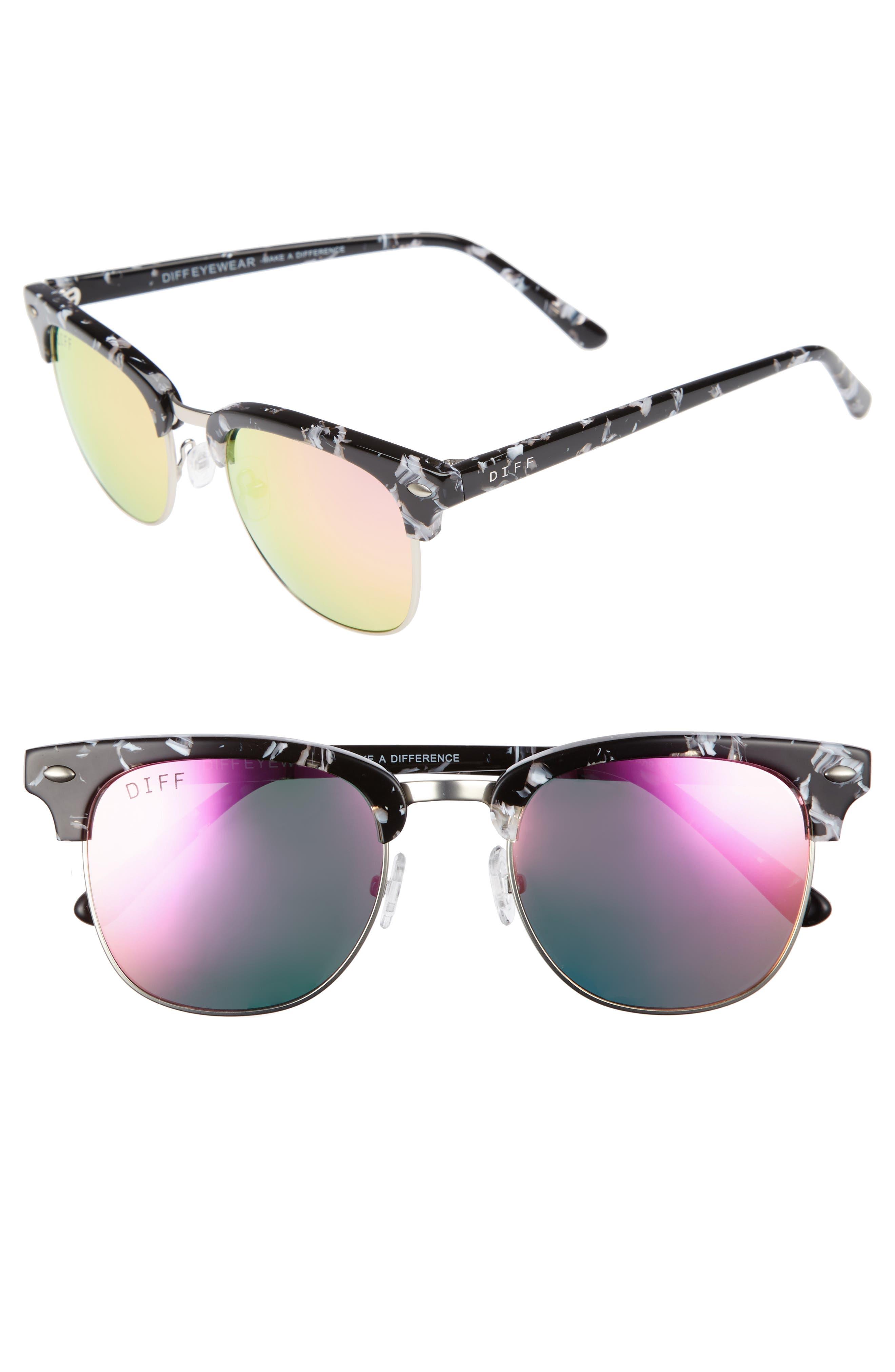 DIFF Barry 51mm Polarized Retro Sunglasses