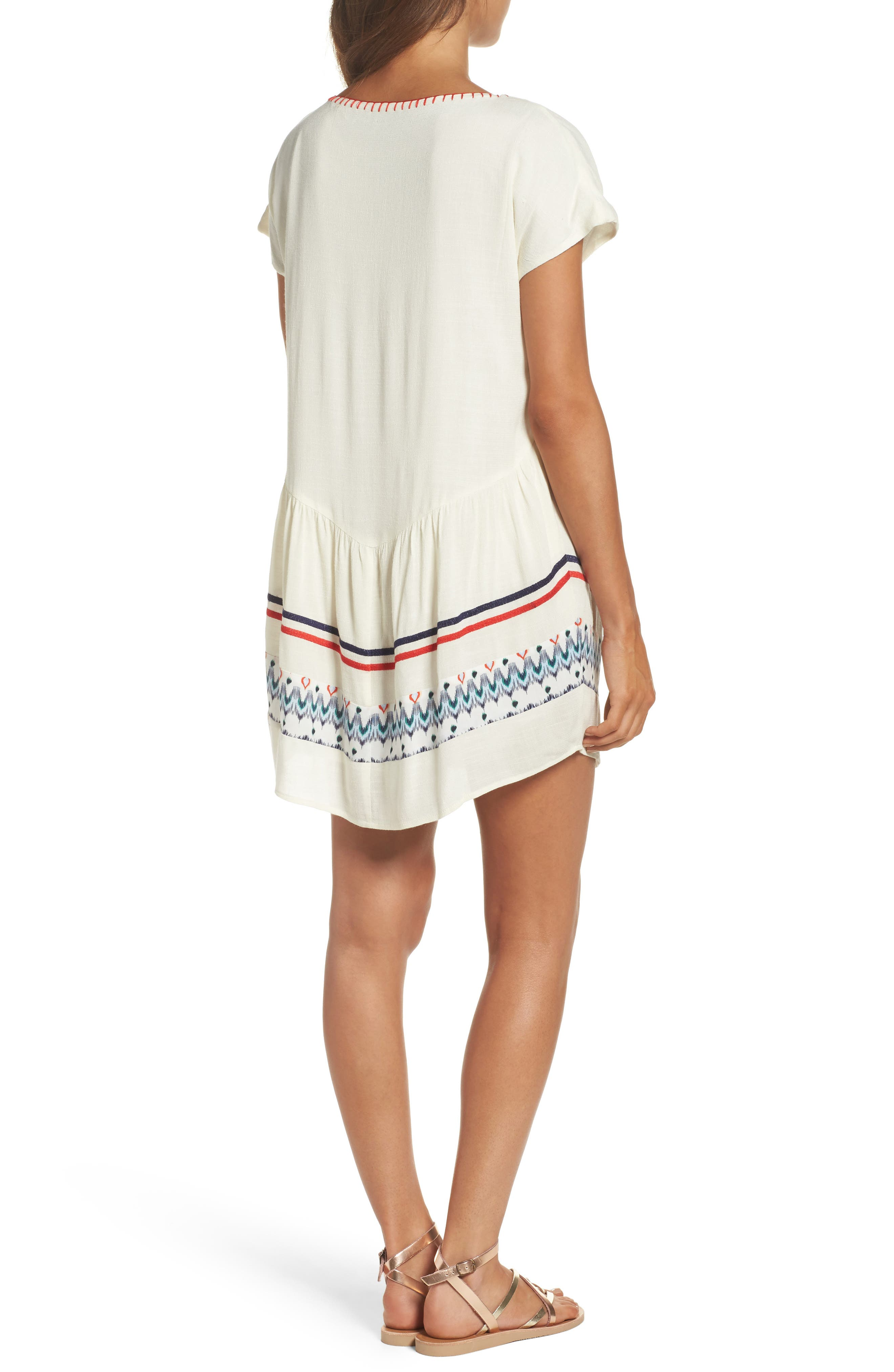 Alternate Image 2  - THML Embroidered Tunic Dress