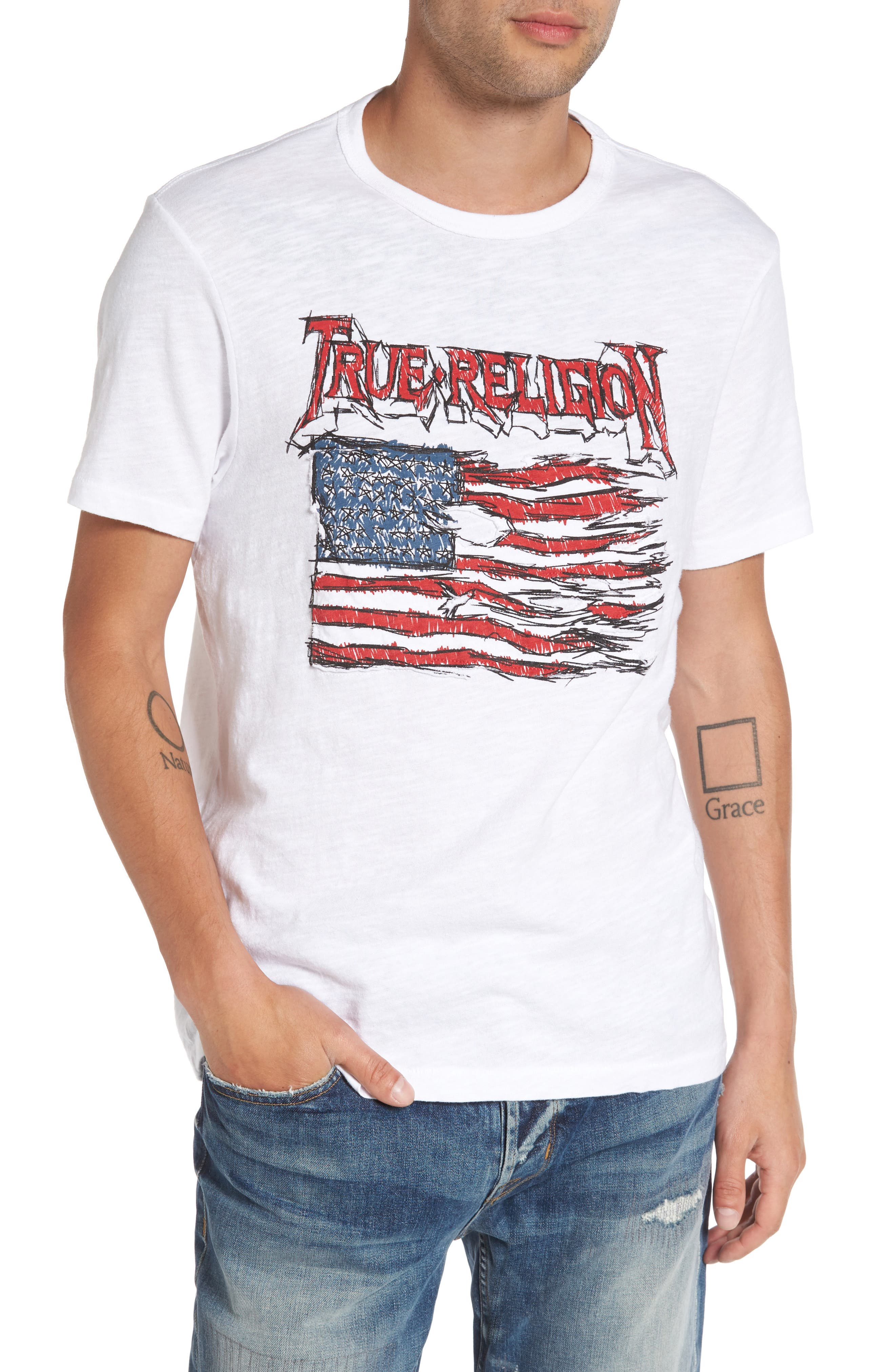 True Religion Brand Jeans Land of the Free Graphic T-Shirt