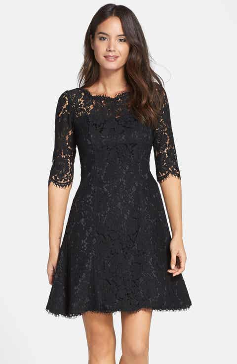 eliza j lace fit flare dress regular