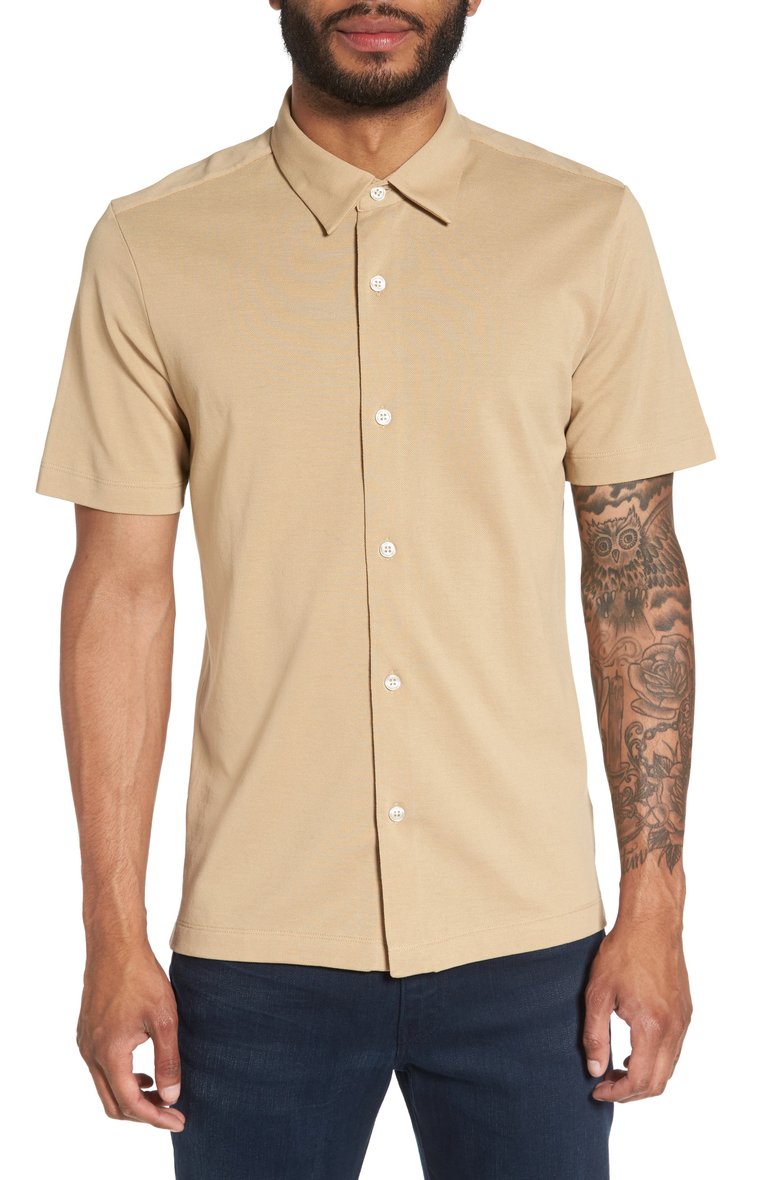 Theory Slim Fit Air Piqué Sport Shirt