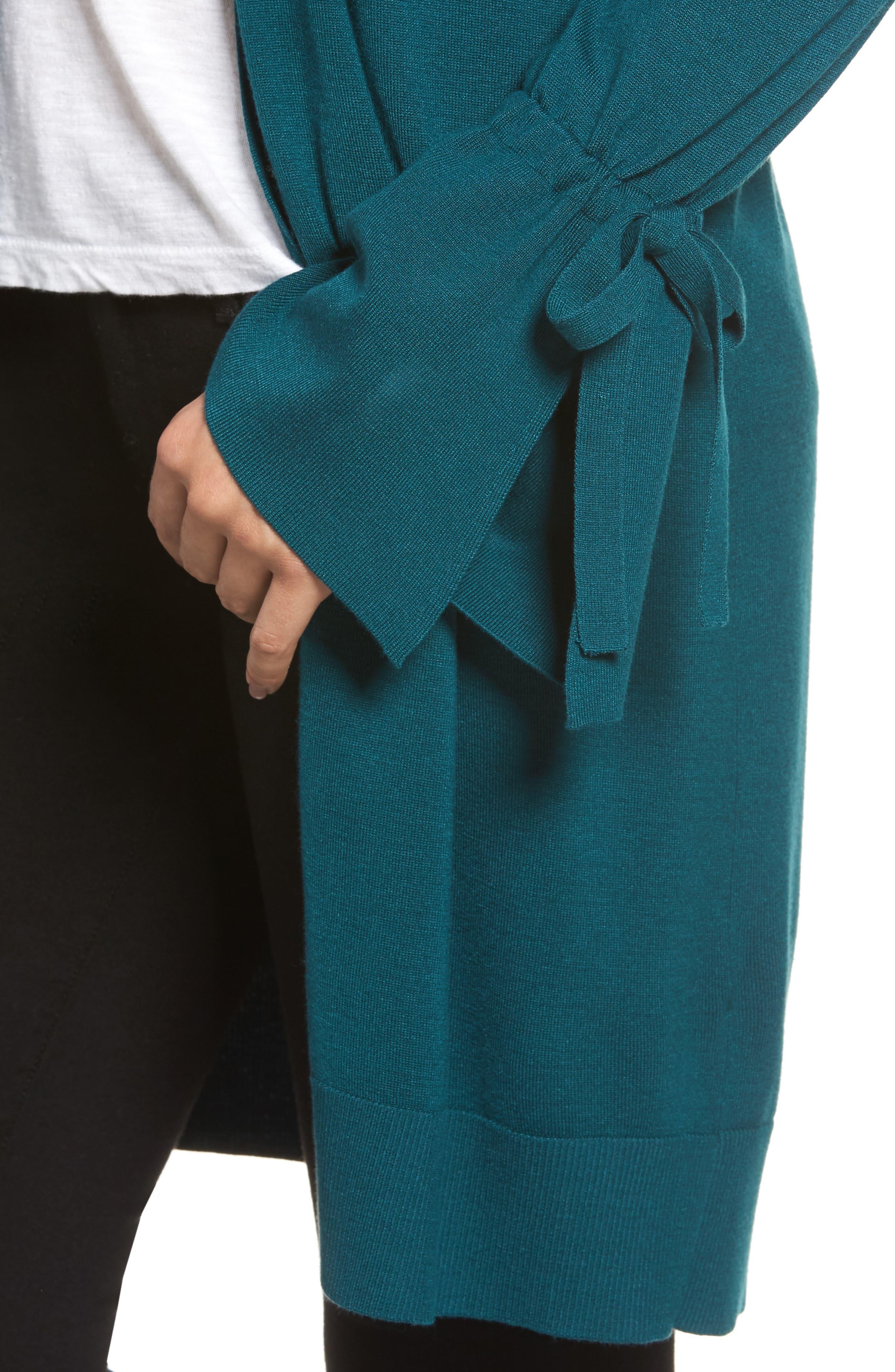 Alternate Image 4  - Halogen® Lightweight Tie Sleeve Cardigan