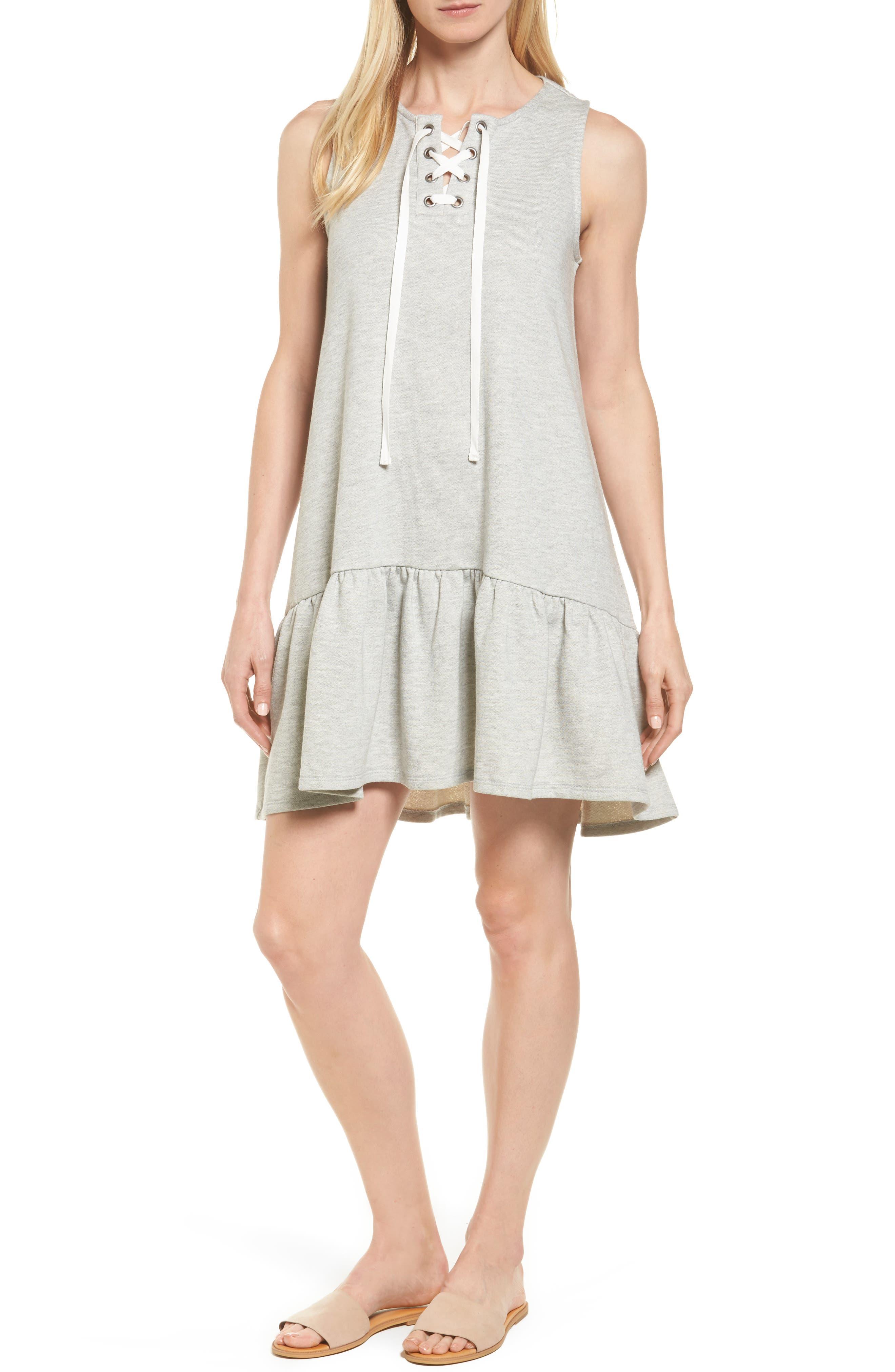 Caslon® Jersey Drop Waist Dress (Regular & Petite)
